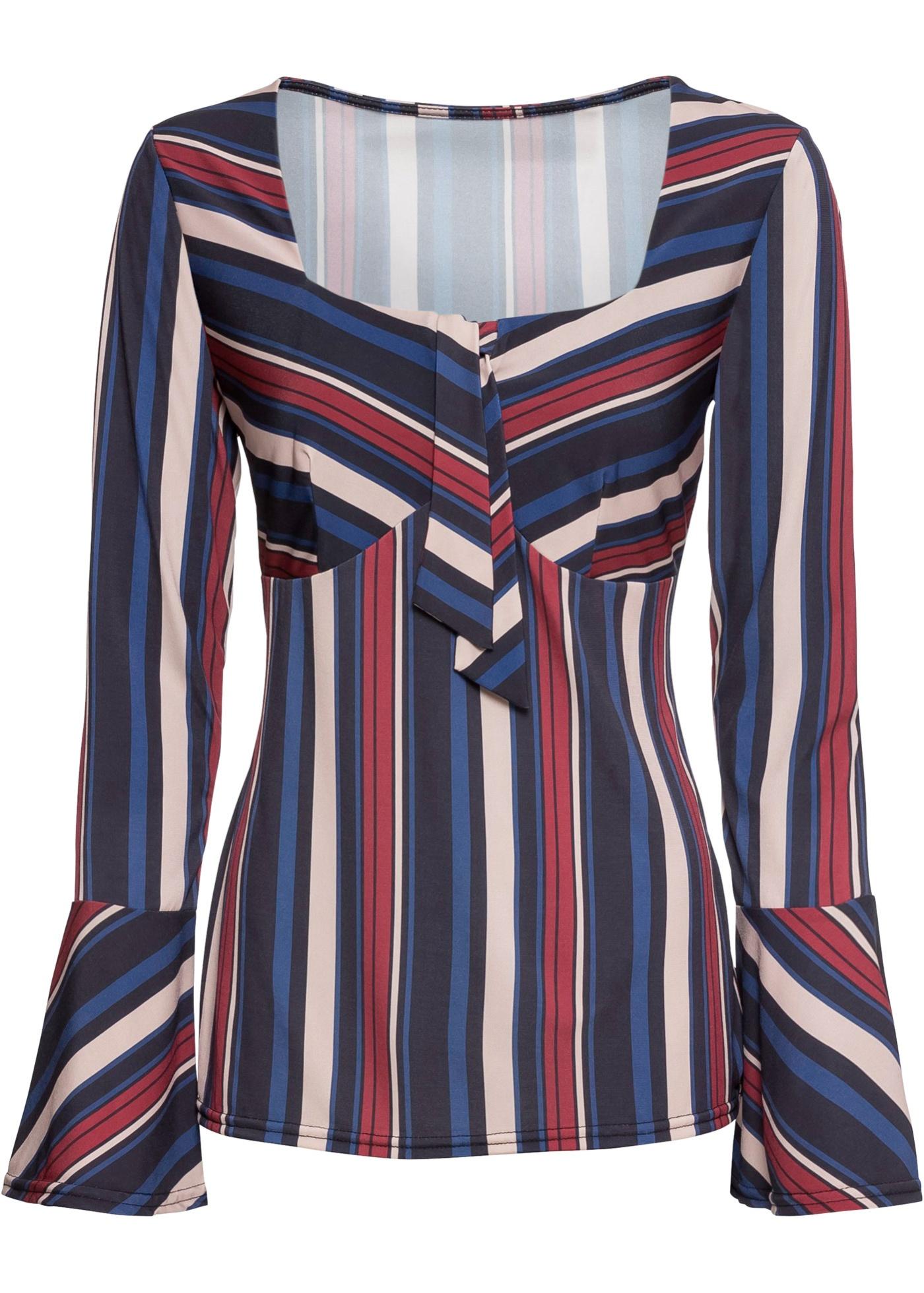 Blusa con scollo quadrato (Blu) - BODYFLIRT boutique