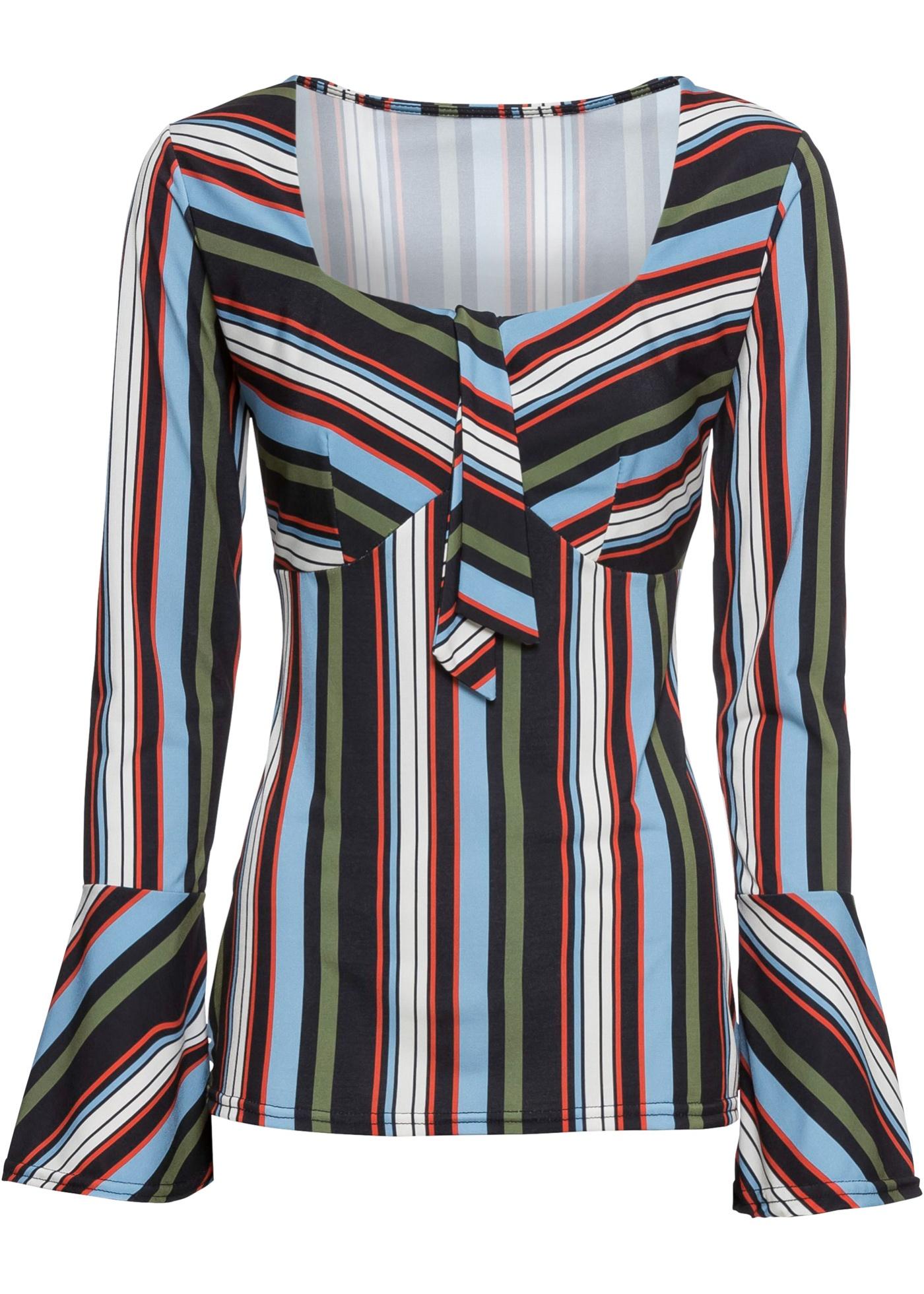 Blusa con scollo quadrato (Nero) - BODYFLIRT boutique