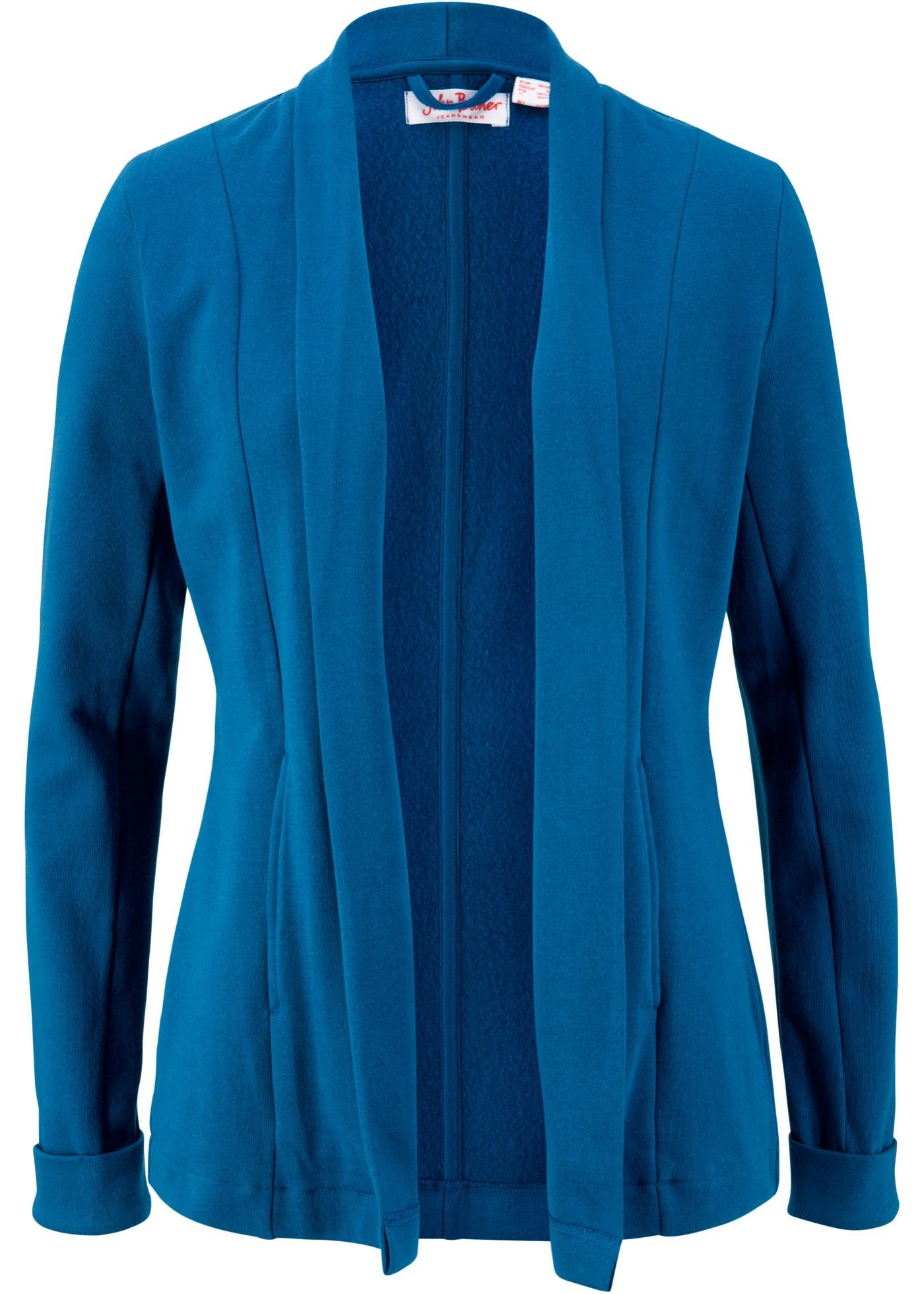 Blazer di felpa in cotone biologico (Blu) - John Baner JEANSWEAR