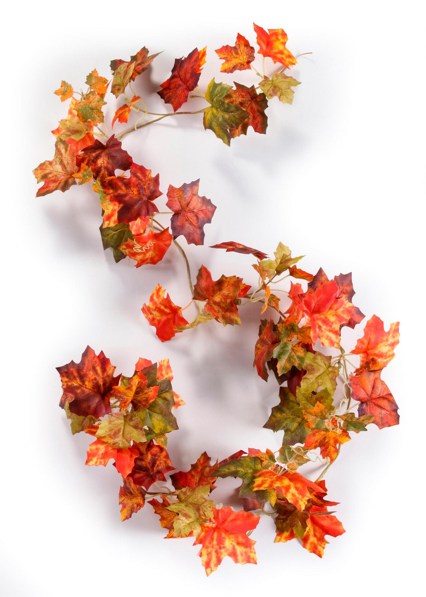 Ghirlanda artificiale con foglie autunnali (Rosso) - bpc living bonprix collection