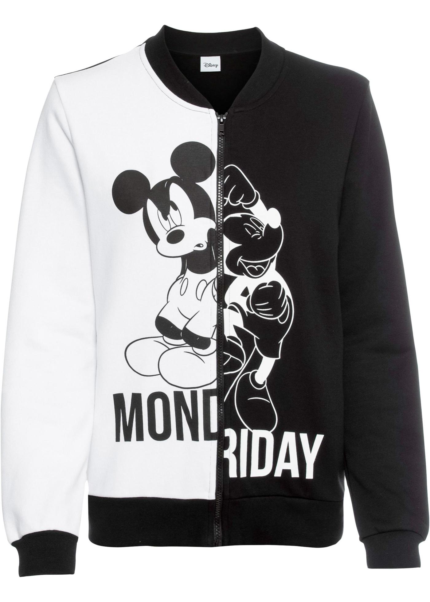 Giacca college in felpa con Mickey Mouse (Nero) - Disney