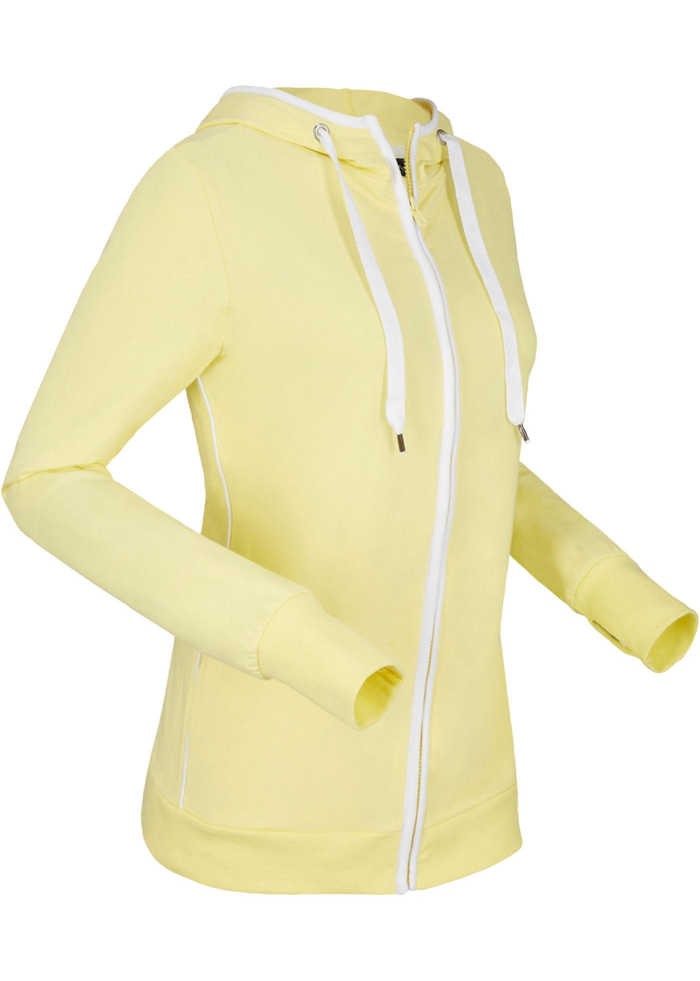 Felpa con zip e cappuccio (Giallo) - bpc bonprix collection