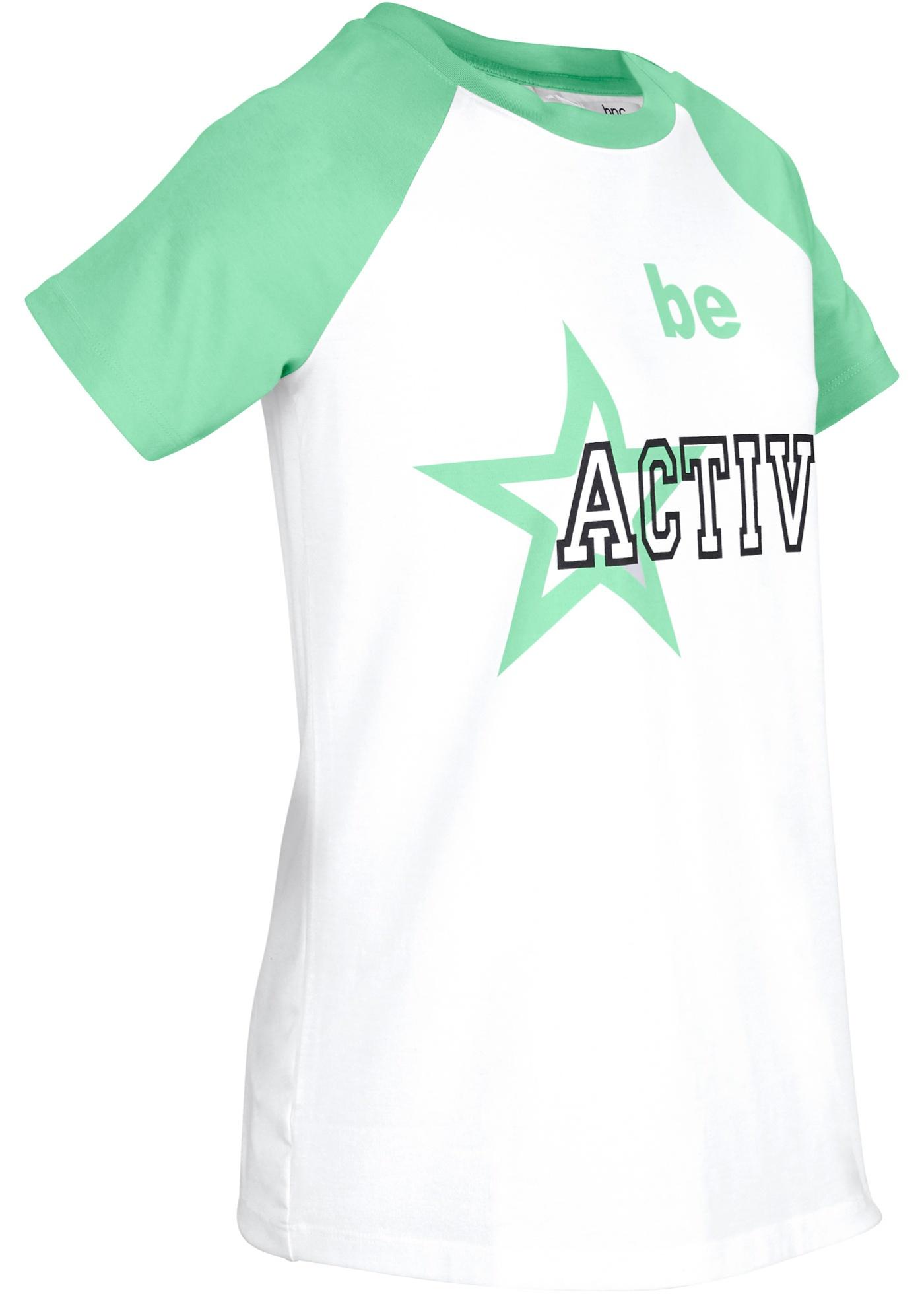 T-shirt per sport con stampa (Bianco) - bpc bonprix collection