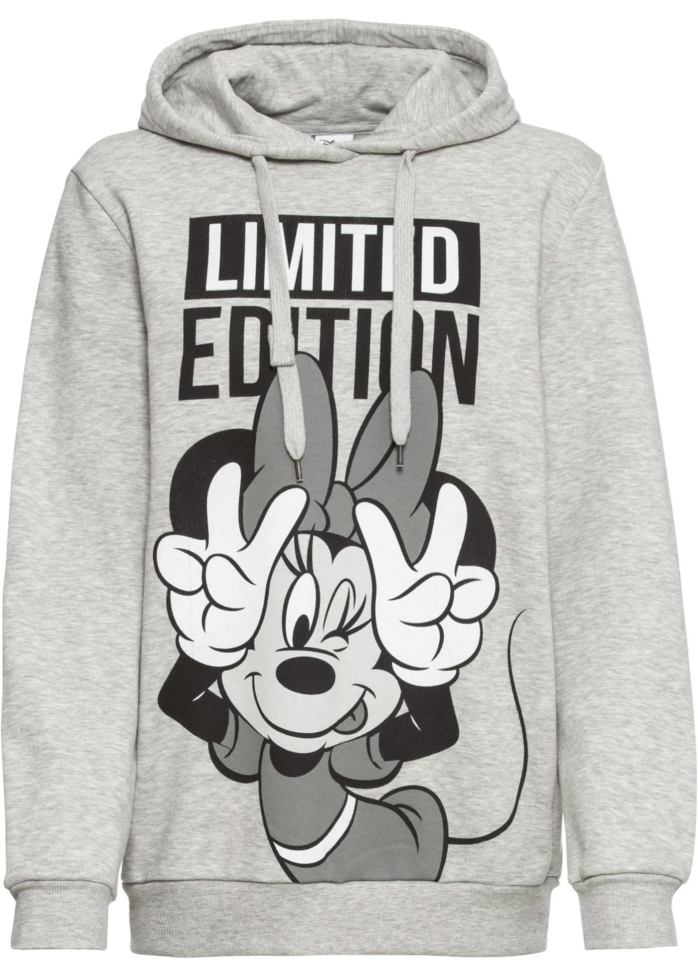 Felpa con cappuccio e stampa Minnie (Grigio) - Disney