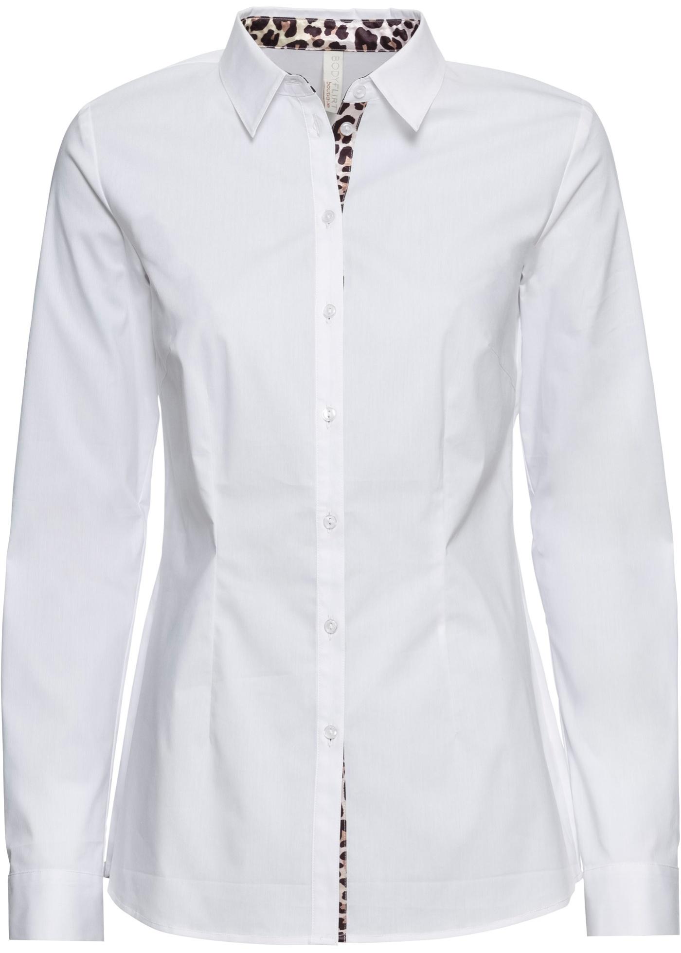 Camicetta con inserto leopardato (Bianco) - BODYFLIRT boutique