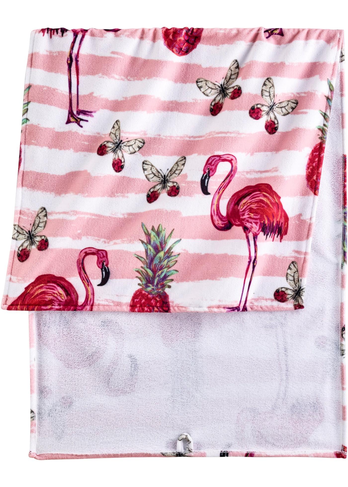 Asciugamano con fenicotteri (Fucsia) - bpc living bonprix collection