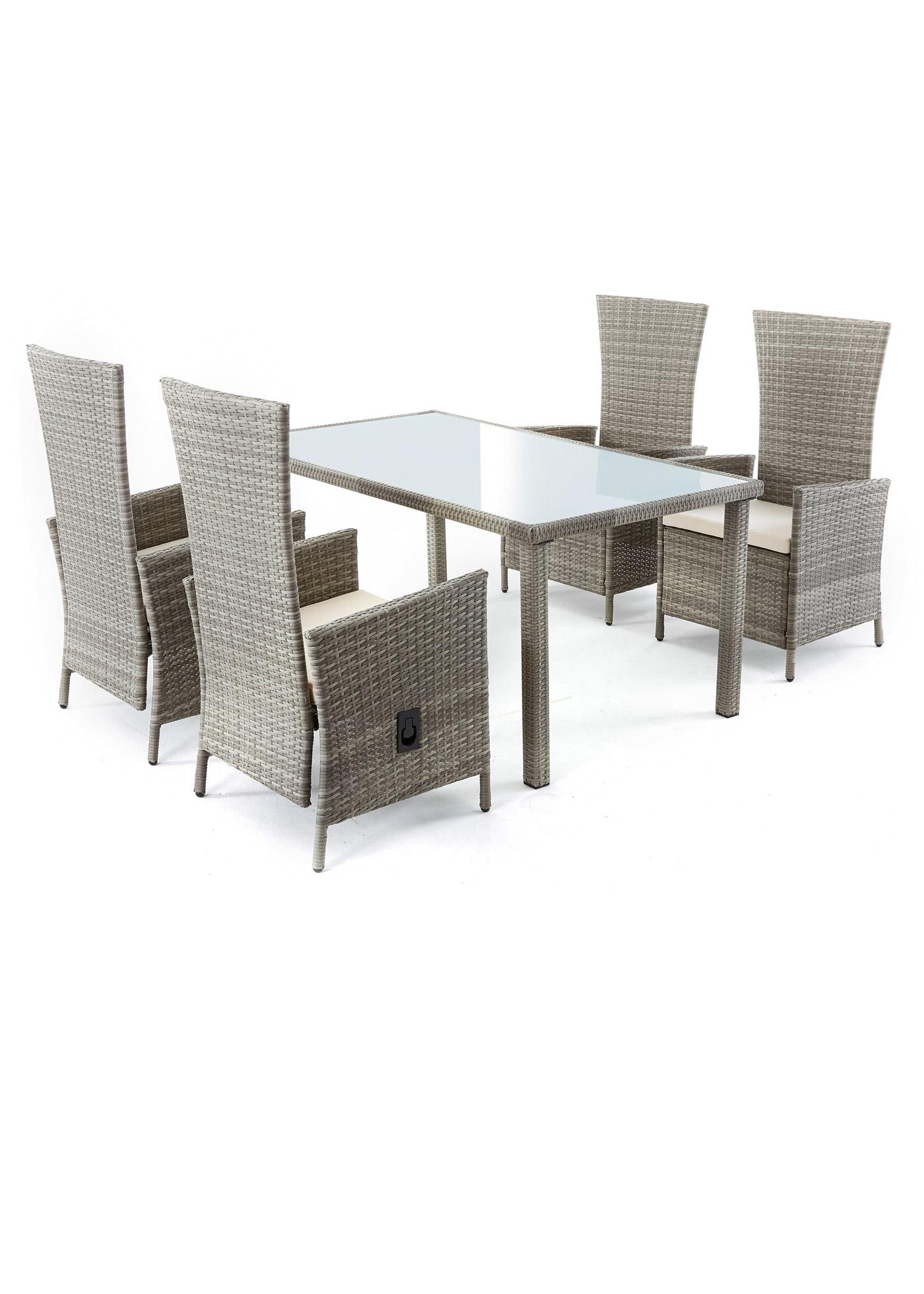 Set mobili da giardino (set 5 pezzi) (Grigio) - bpc living bonprix collection