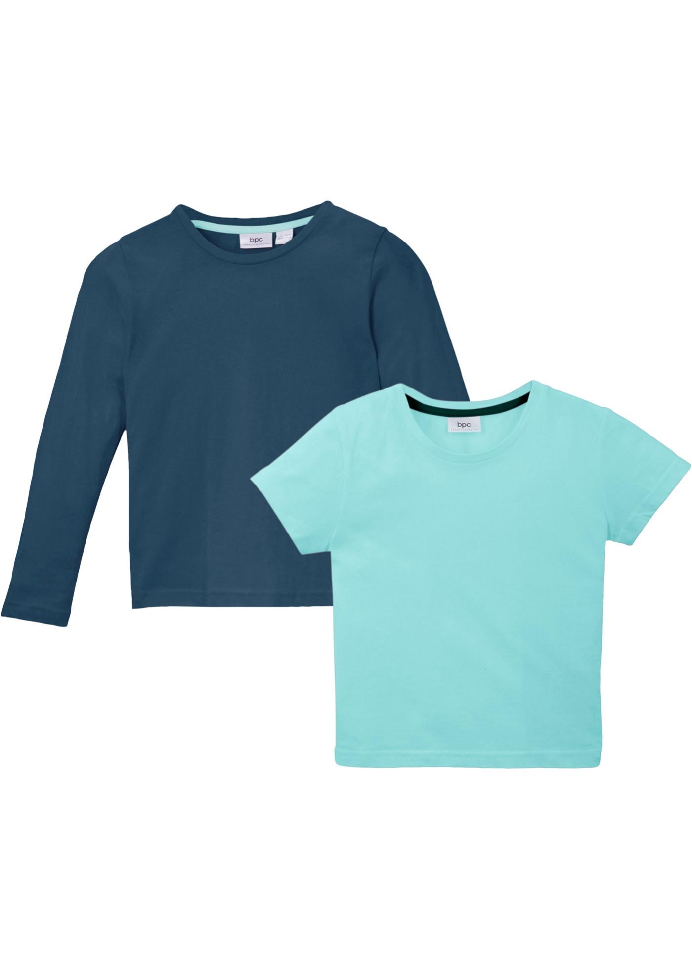 T-shirt e maglia a maniche lunghe (set 2 pezzi) (Blu) - bpc bonprix collection