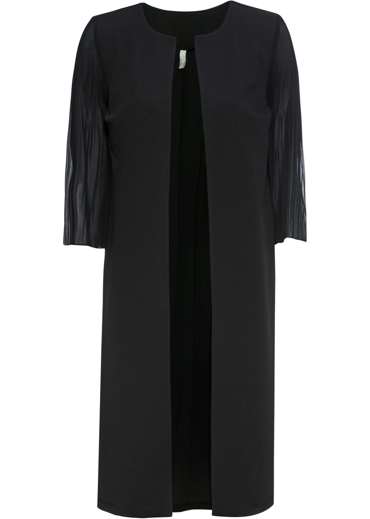 Blazer lungo con maniche plissettate (Nero) - BODYFLIRT boutique