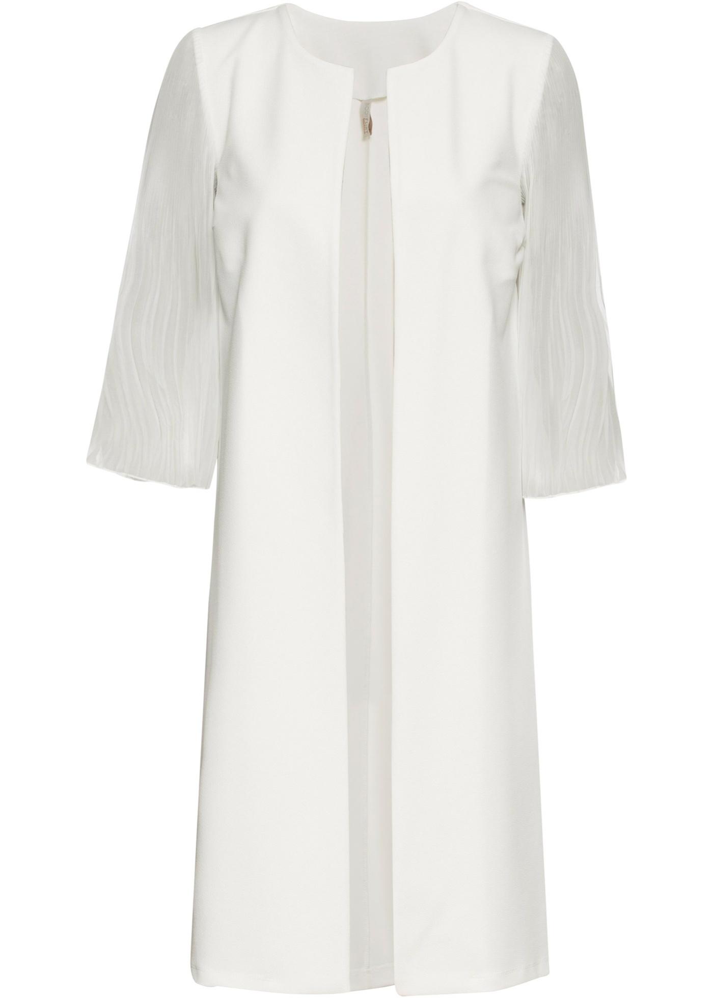 Blazer lungo con maniche plissettate (Bianco) - BODYFLIRT boutique