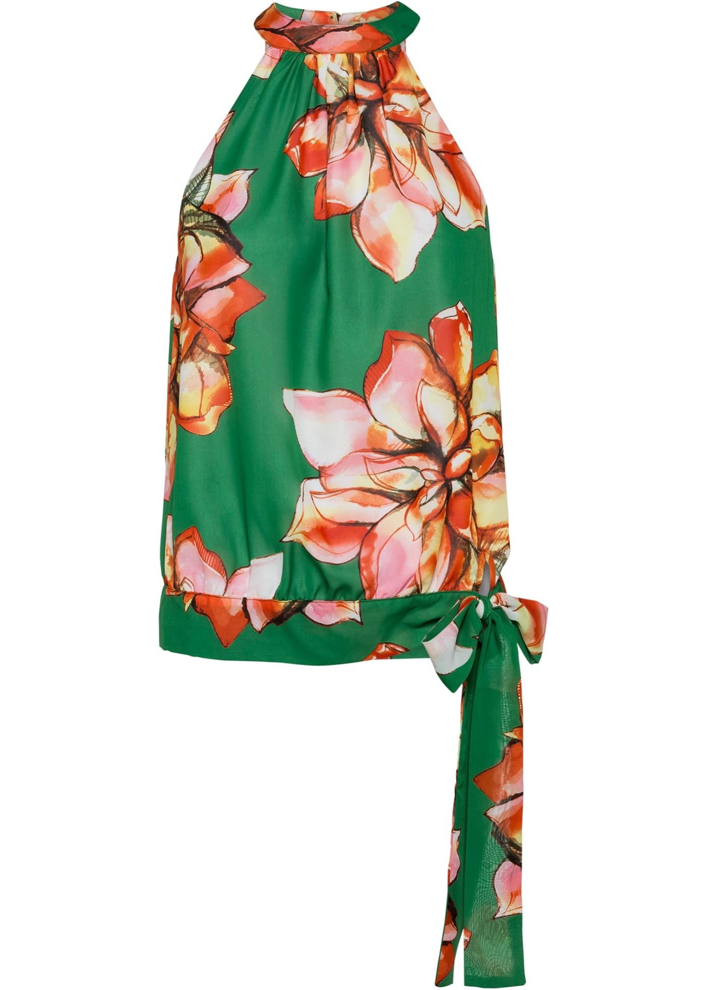 Blusa a fiori (Verde) - BODYFLIRT boutique