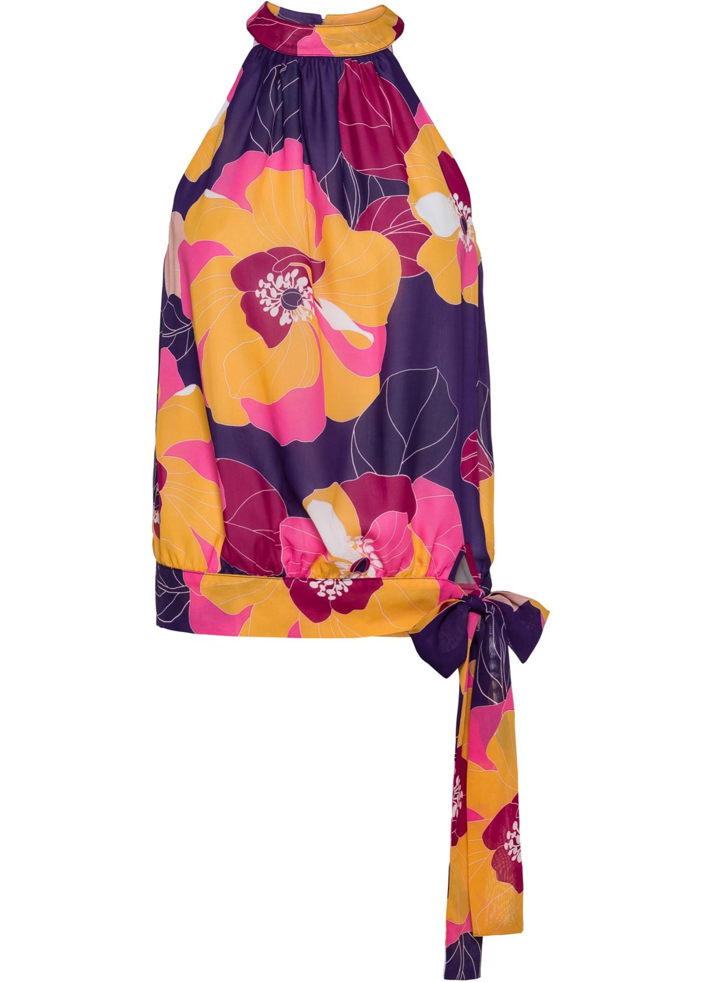 Blusa a fiori (viola) - BODYFLIRT boutique