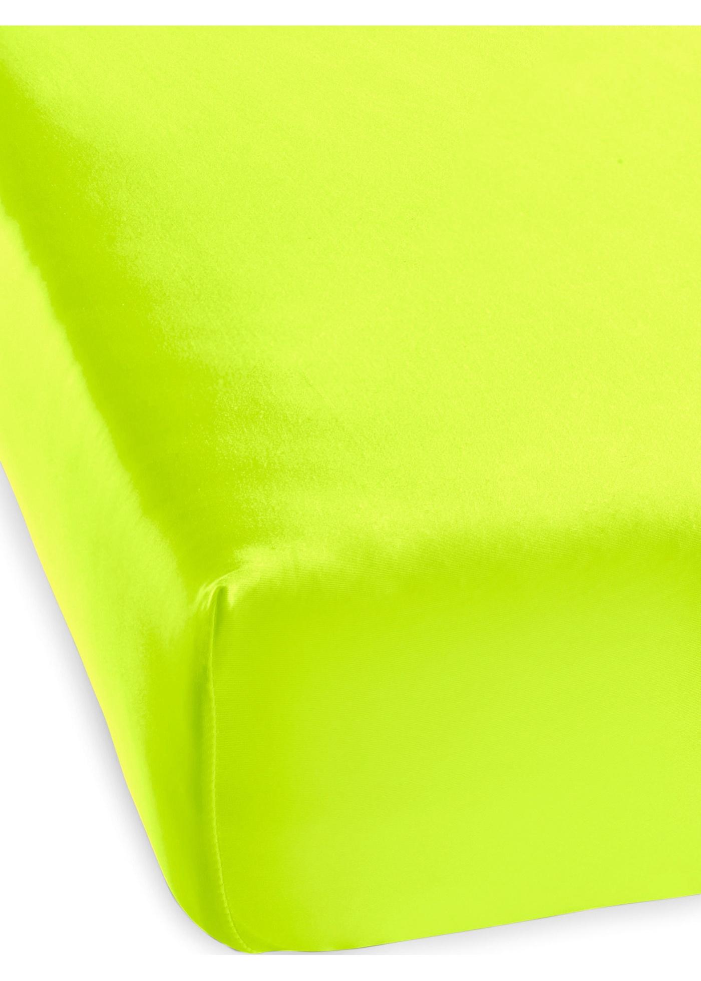 Lenzuolo con angoli in colore neon (Giallo) - bpc living bonprix collection