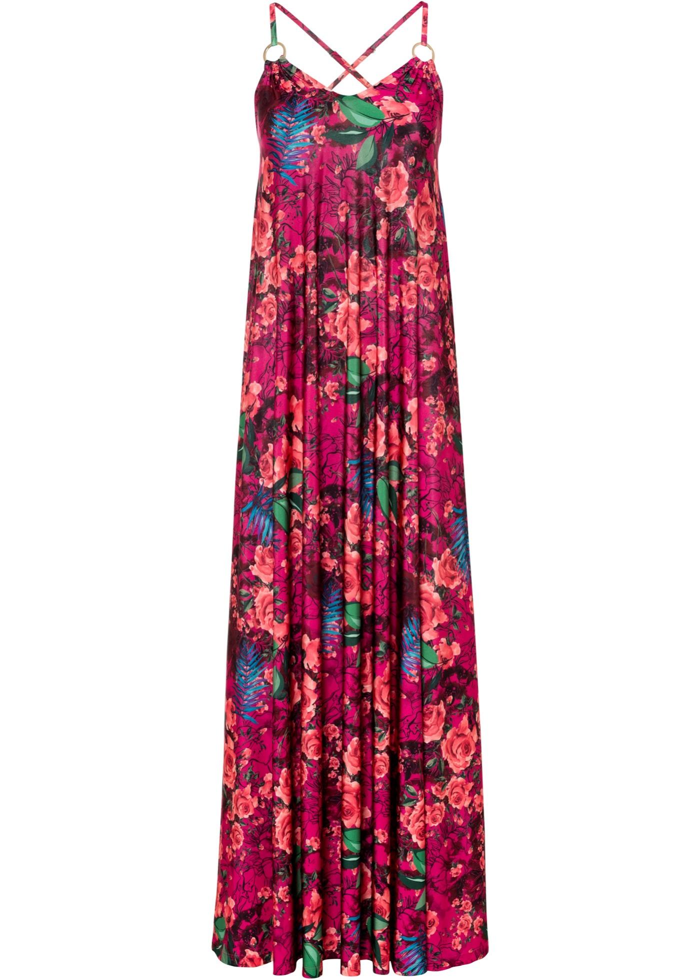 Abito a fiori (viola) - BODYFLIRT boutique