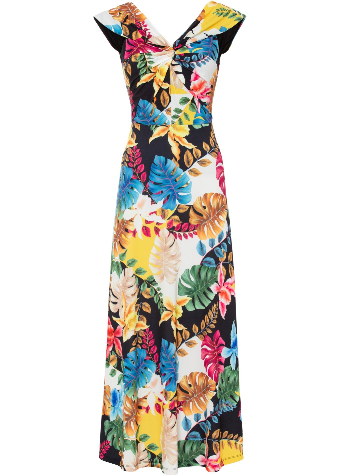 Abito a fiori con spalle scoperte (Beige) - BODYFLIRT boutique