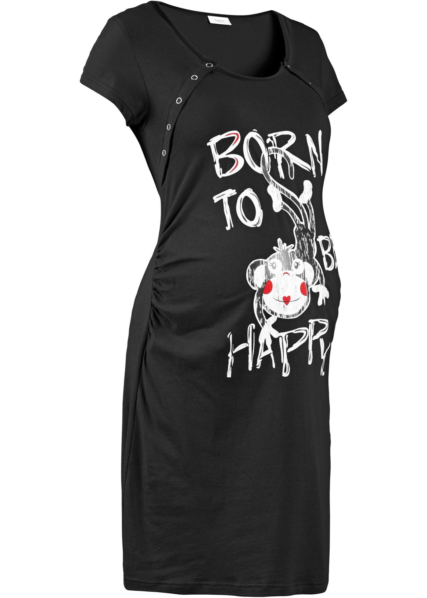 Camicia da notte per l'allattamento (Nero) - bpc bonprix collection - Nice Size