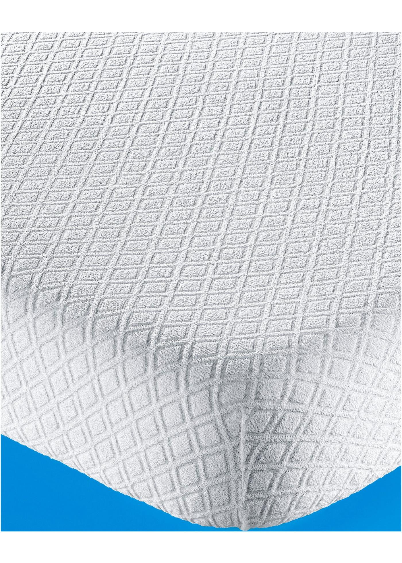 Coprimaterasso jacquard (Bianco) - Euronova