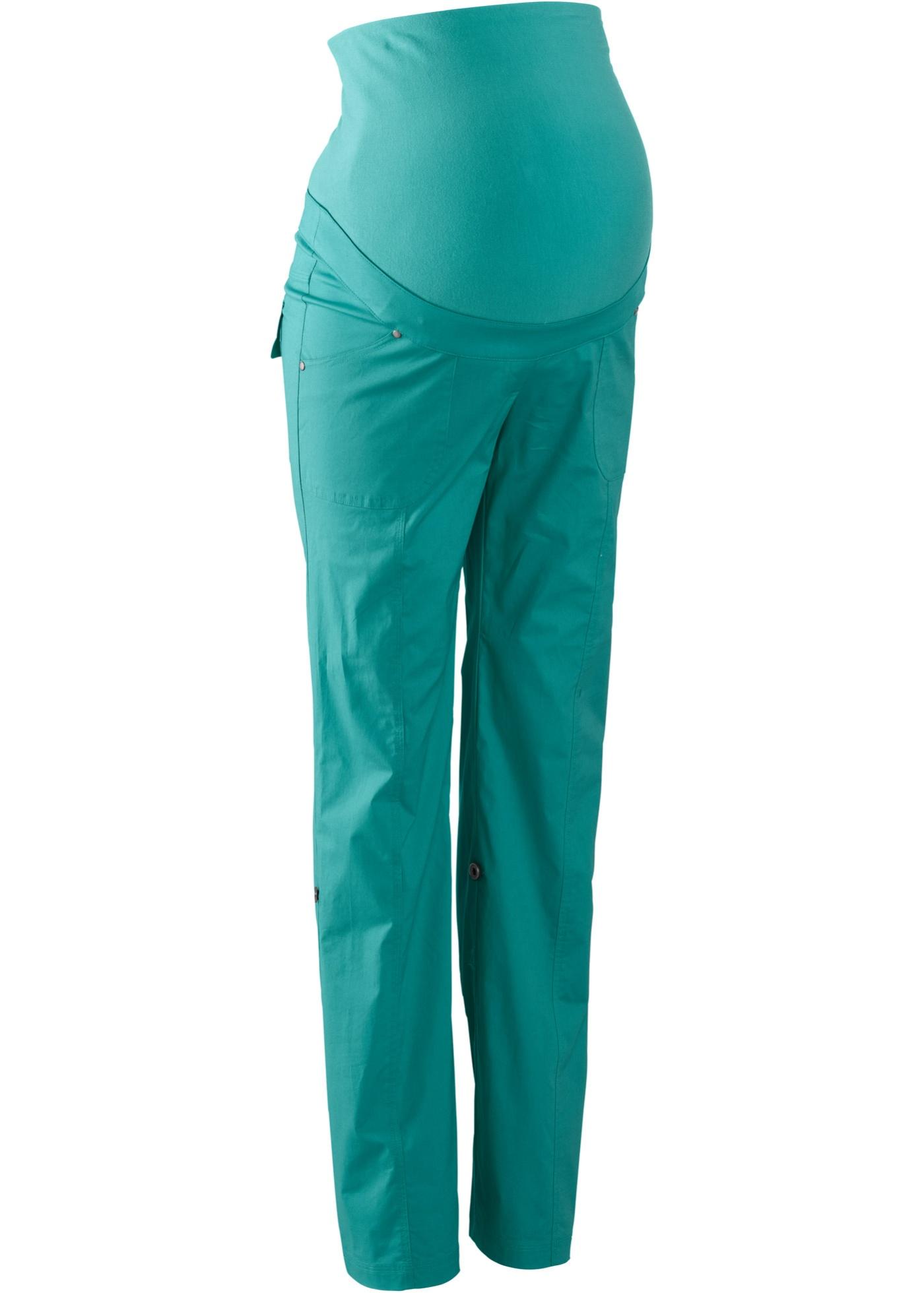 Pantalone prémaman a gamba dritta con risvolto (Verde) - bpc bonprix collection