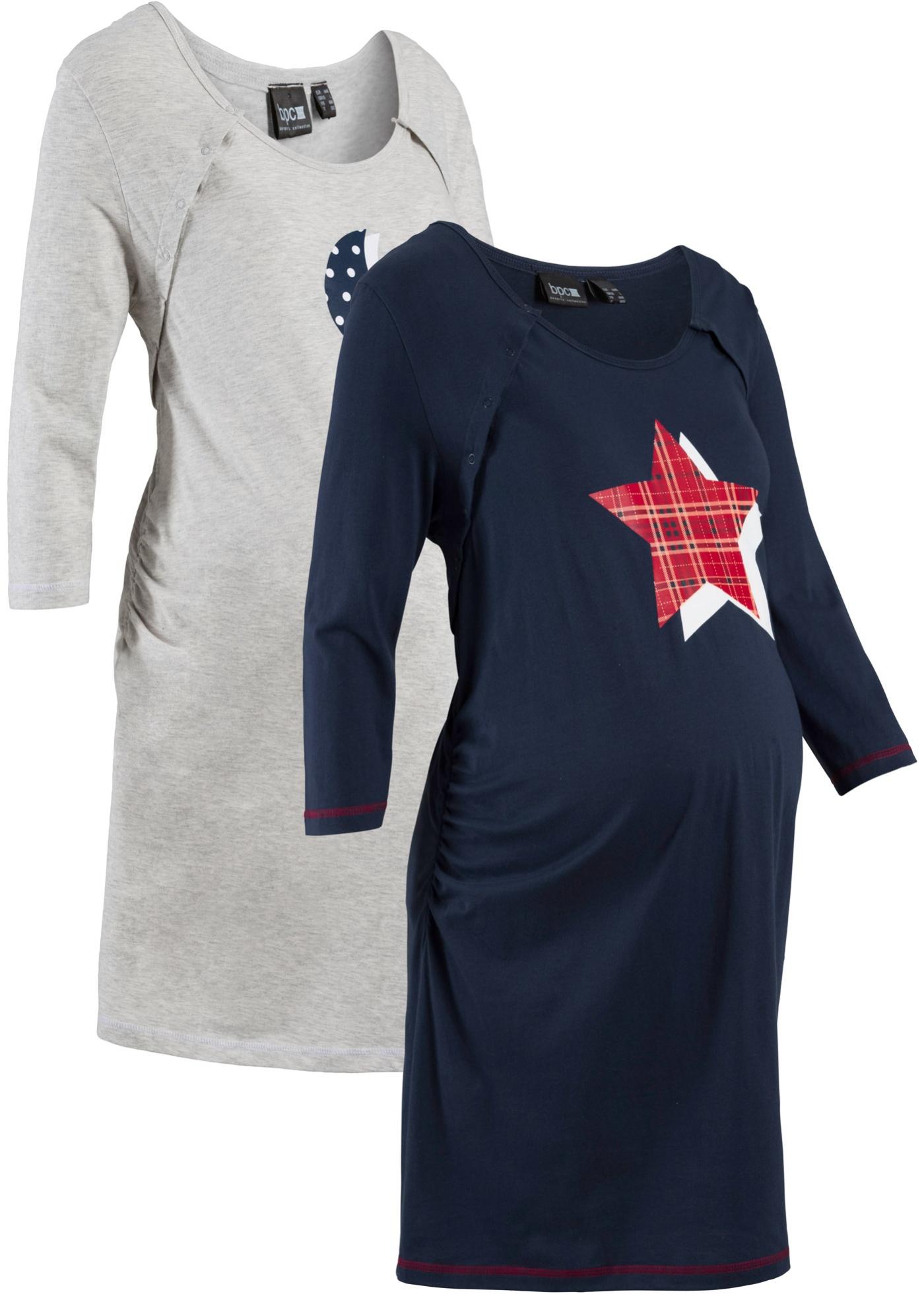 Camicia da notte per allattamento (pacco da 2) (Blu) - bpc bonprix collection - Nice Size