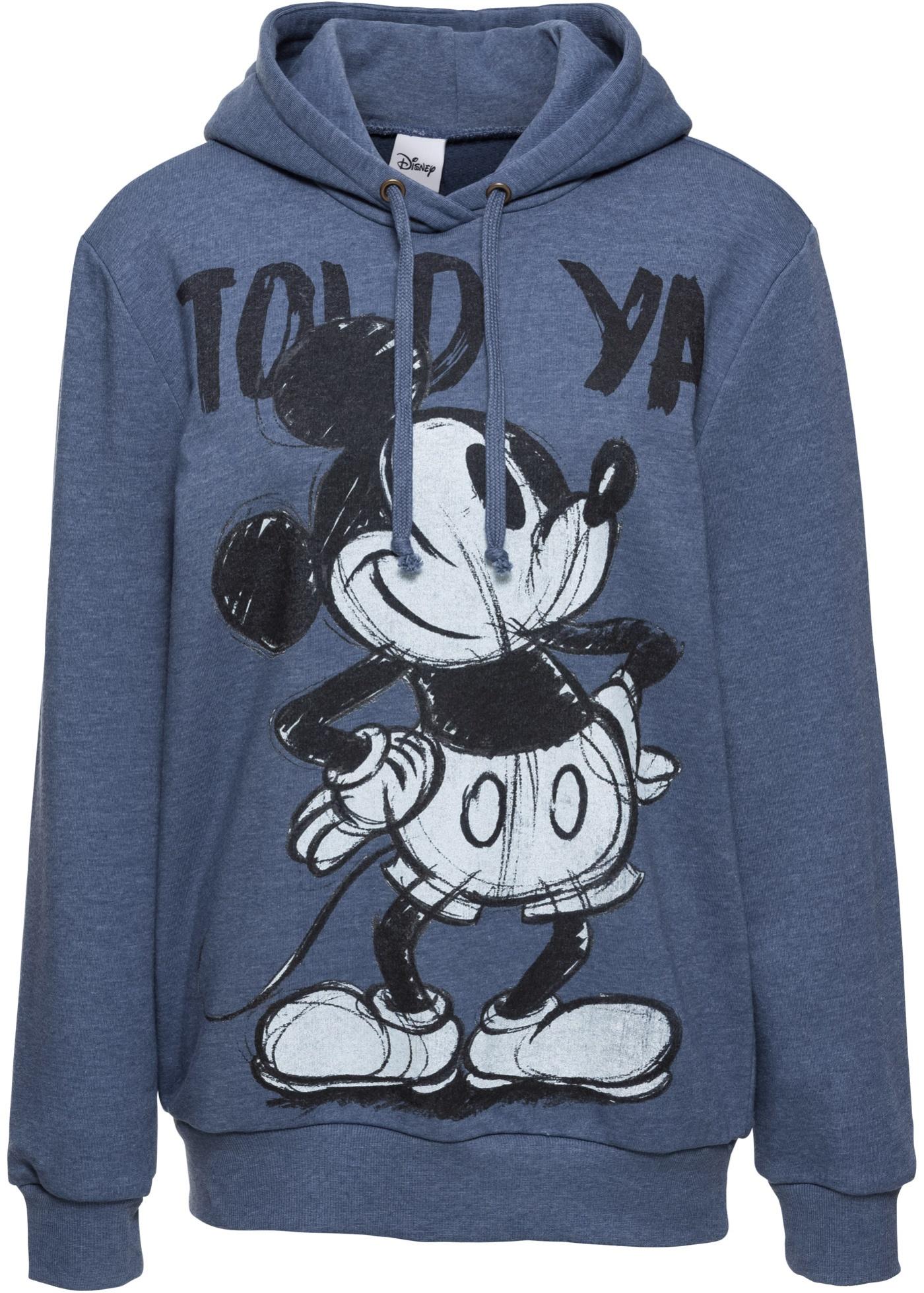 Felpa con cappuccio e stampa Mickey Mouse (Blu) - Disney