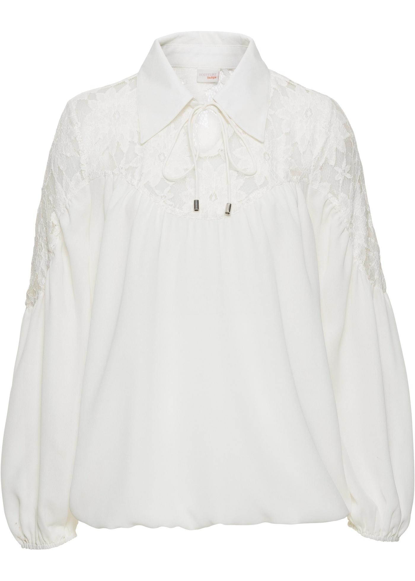 Blusa con colletto (Bianco) - BODYFLIRT boutique