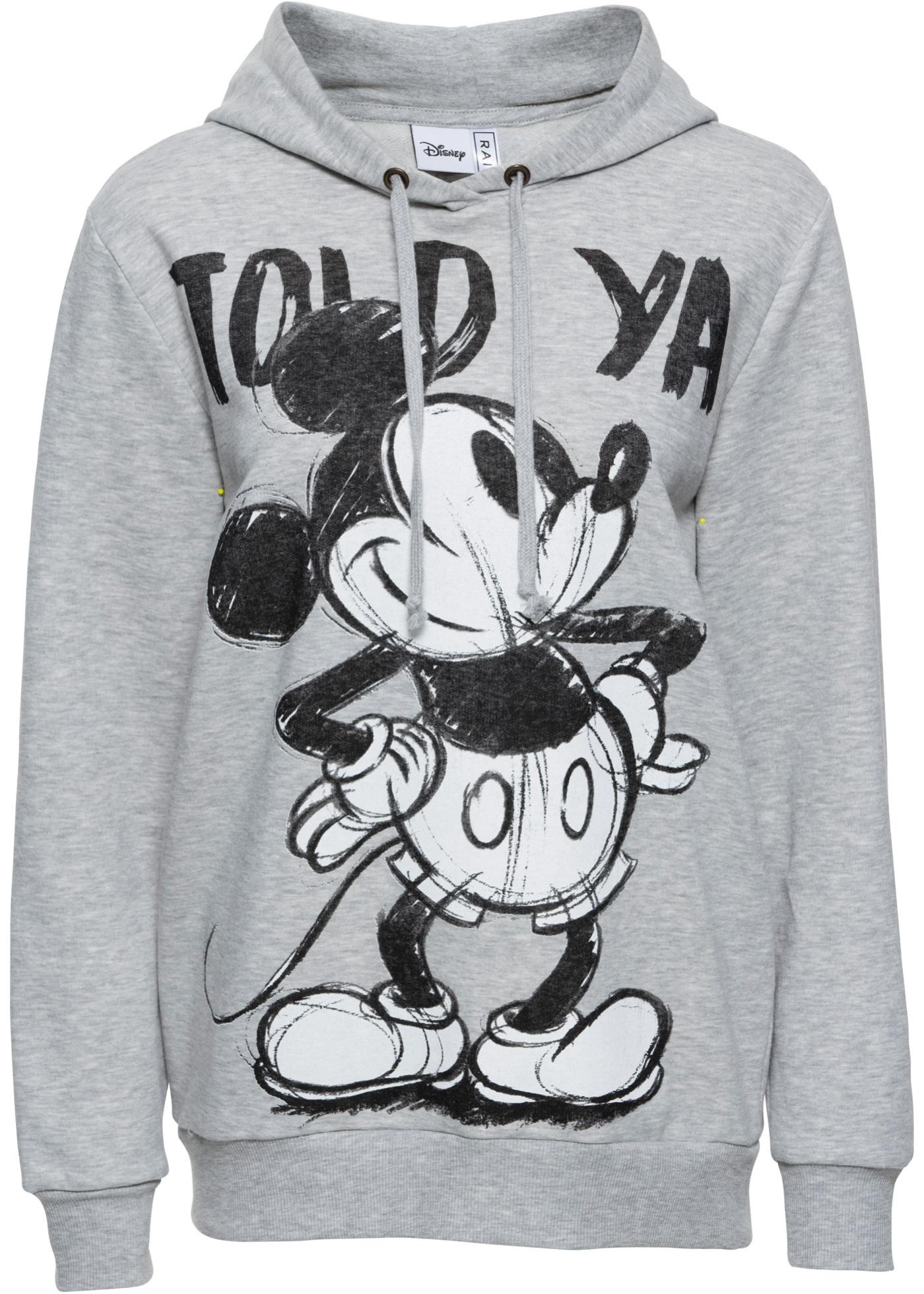 Felpa con cappuccio e stampa Mickey Mouse (Grigio) - Disney
