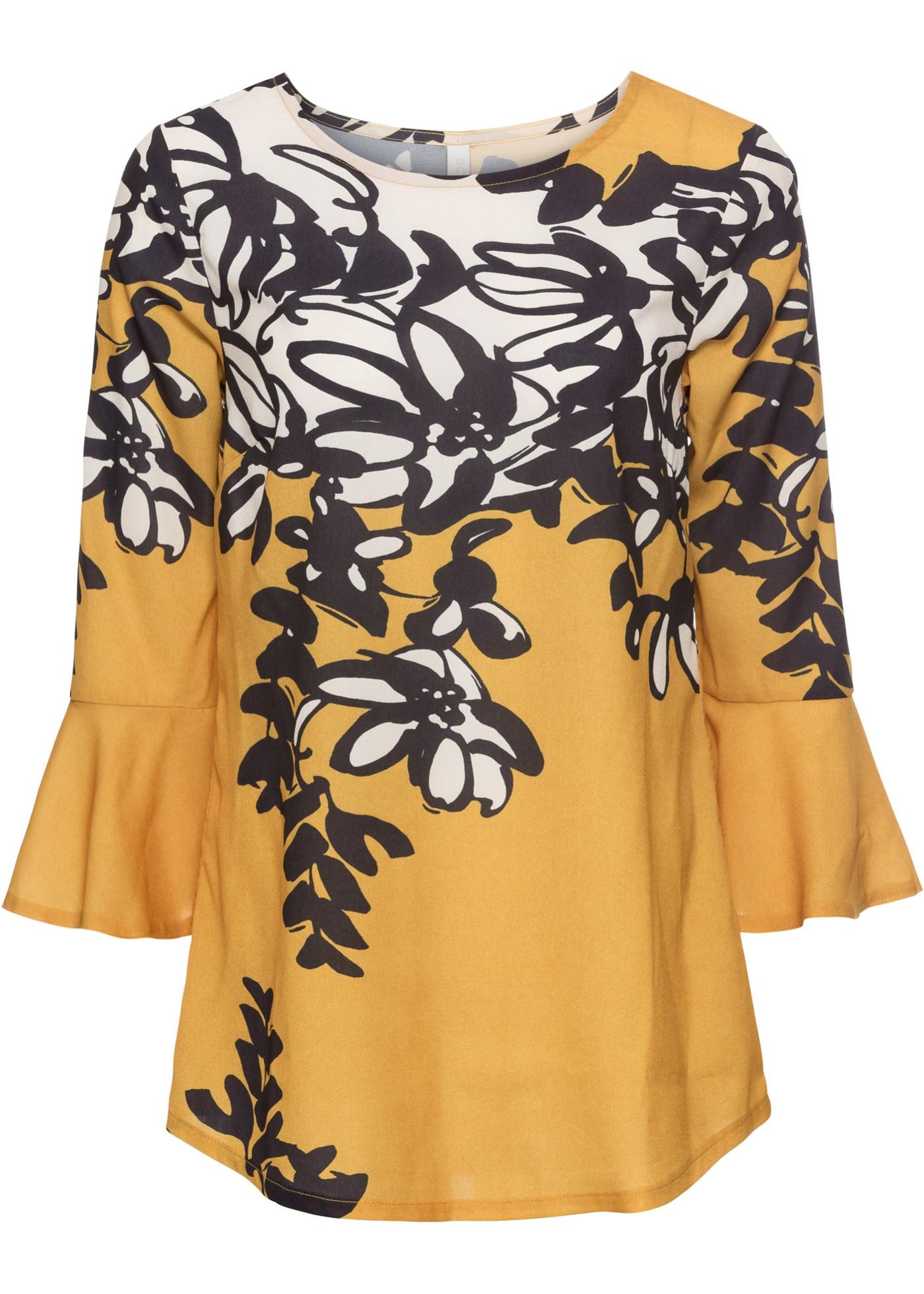 Blusa con stampa floreale (Oro) - BODYFLIRT boutique