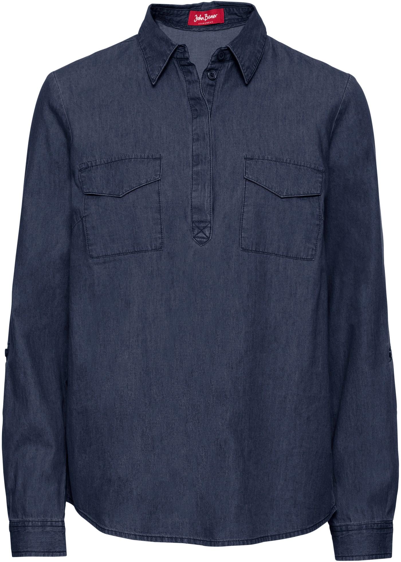 Blusa in jeans a manica lunga (Blu) - John Baner JEANSWEAR