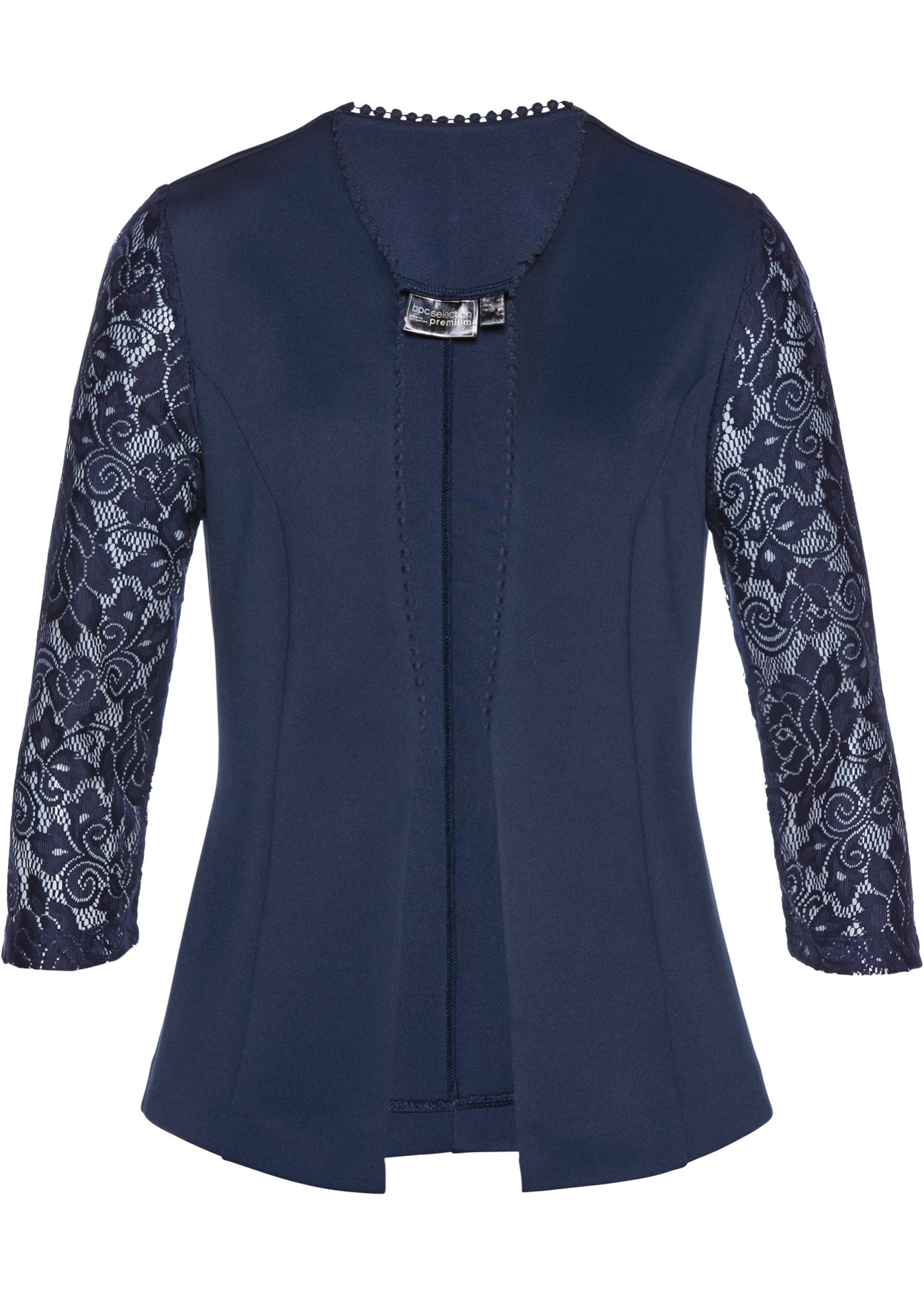 Blazer in jersey con pizzo Premium (Blu) - bpc selection premium