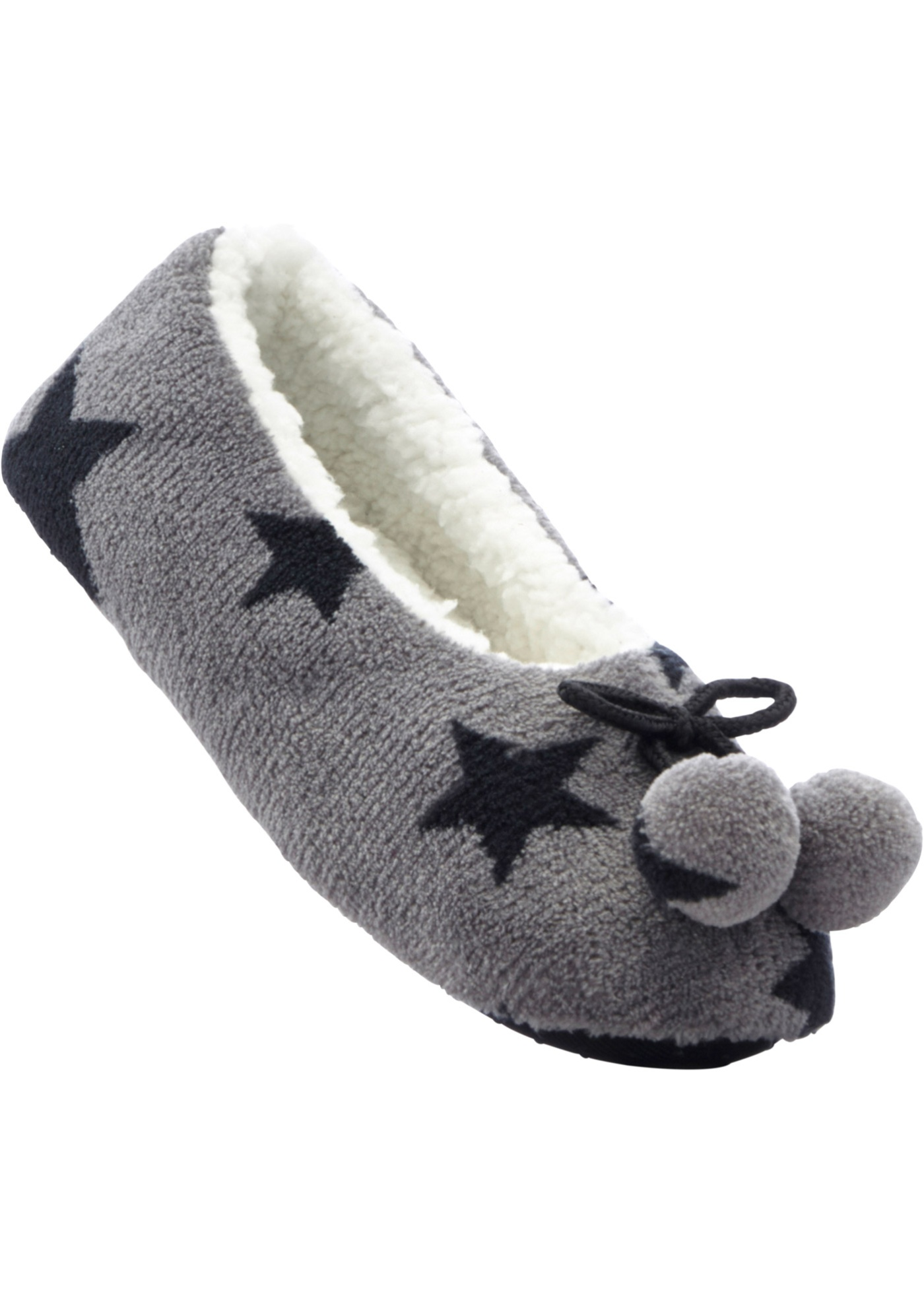 Pantofola Stelle  Grigio