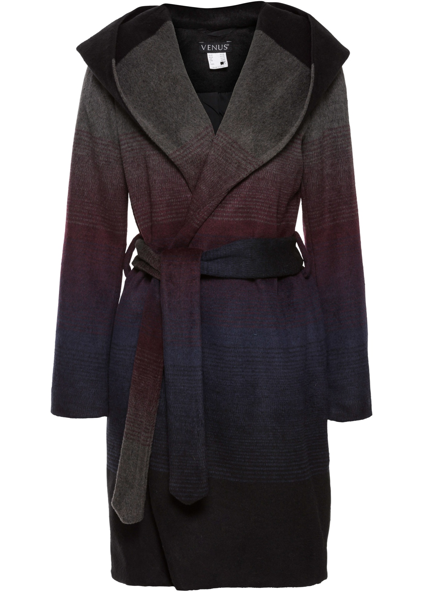 Cappotto con cappuccio (Nero) - BODYFLIRT boutique