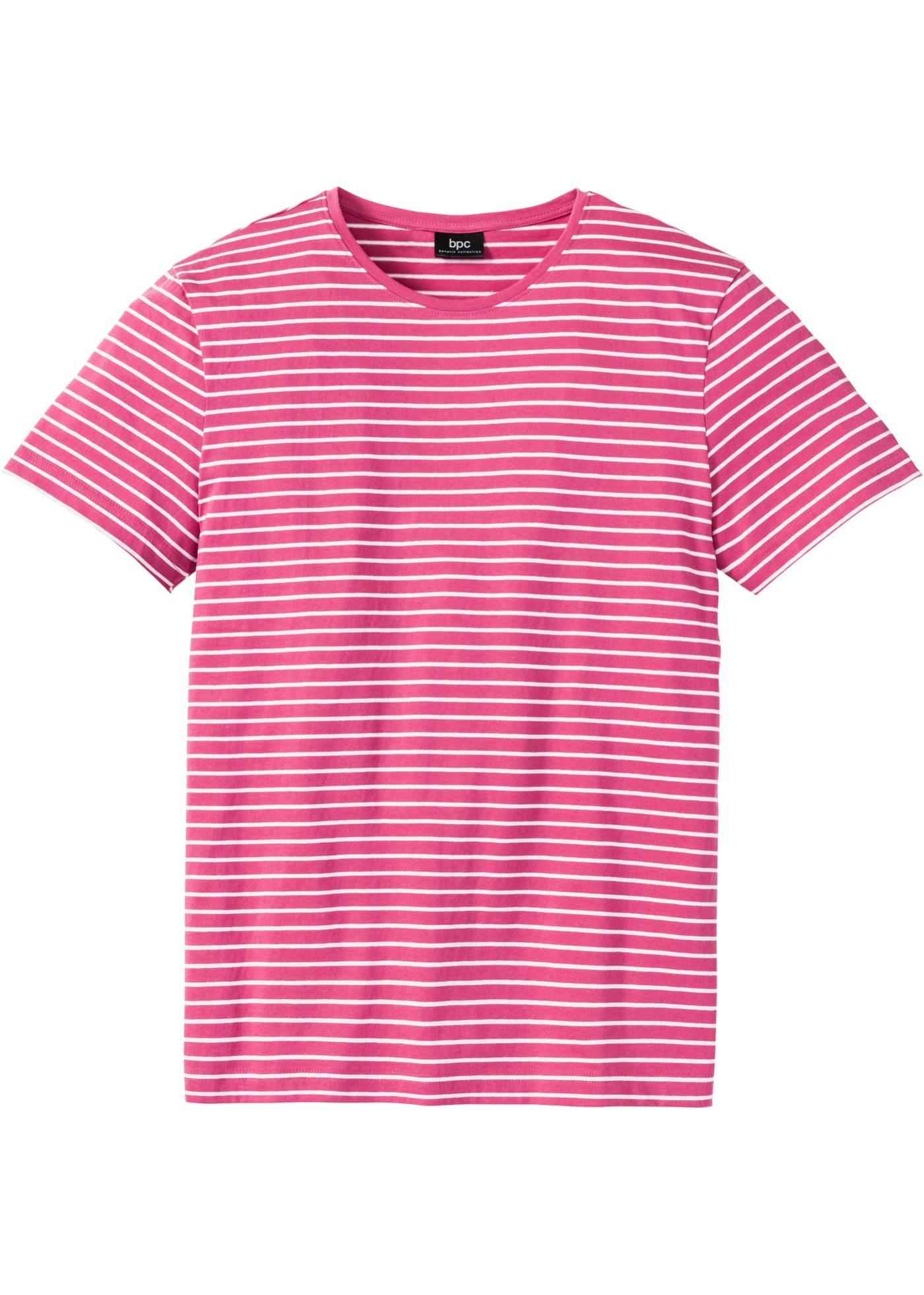 T-shirt a righe  Fucsia