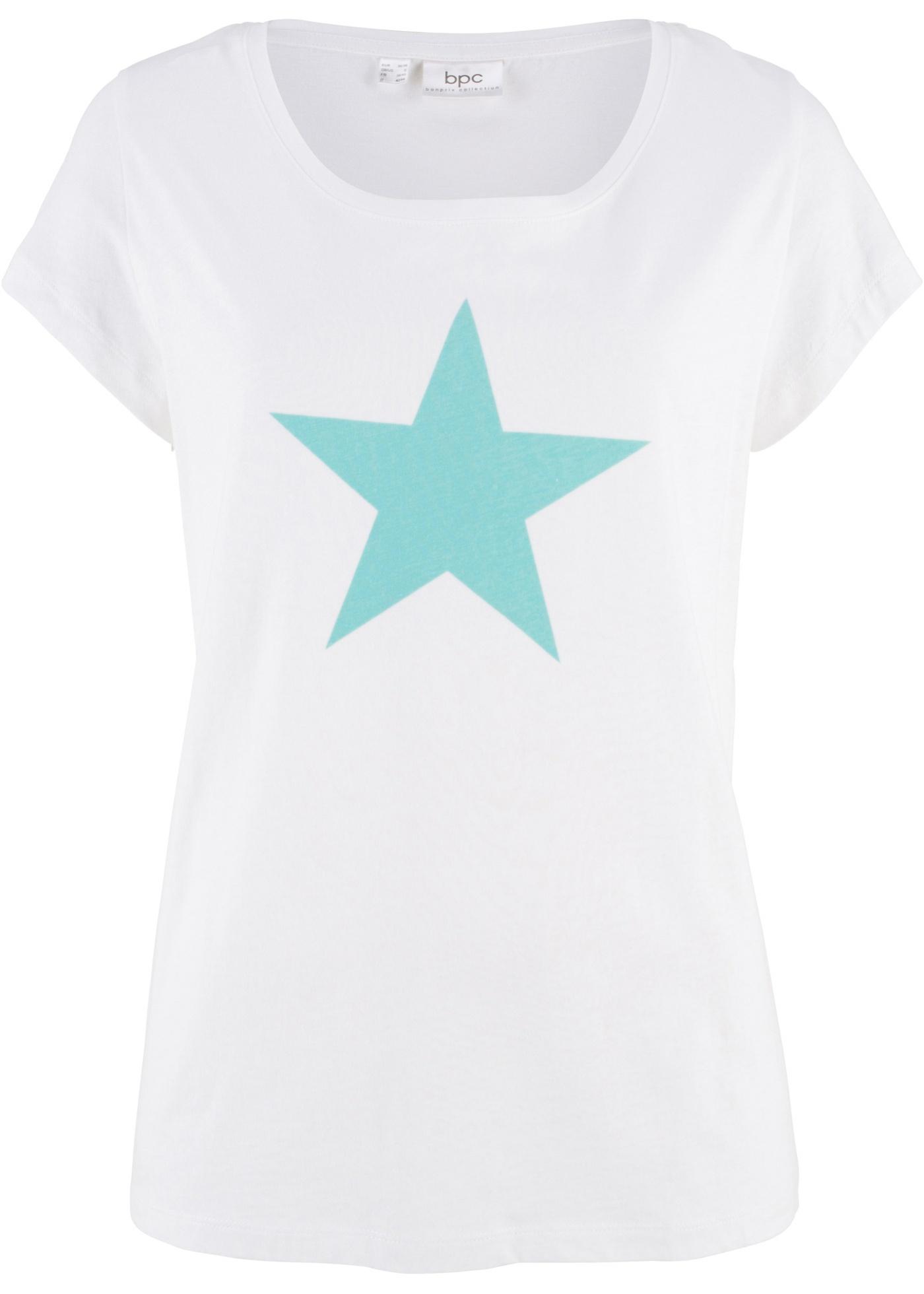 Maglia con stella  Bianco