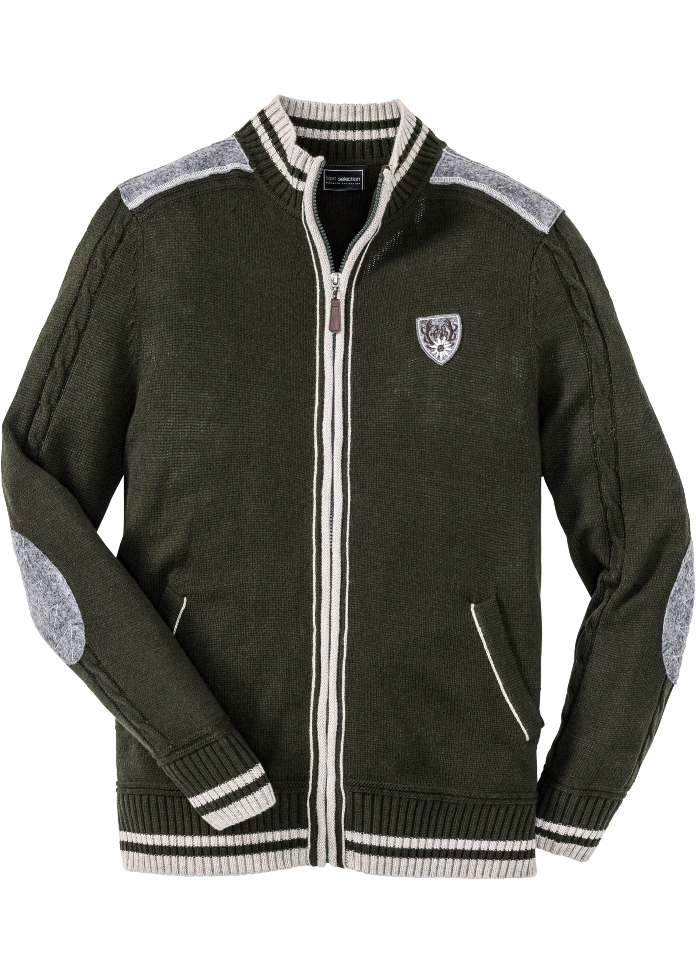 Cardigan tradizionale regular fit (Verde) - bpc selection
