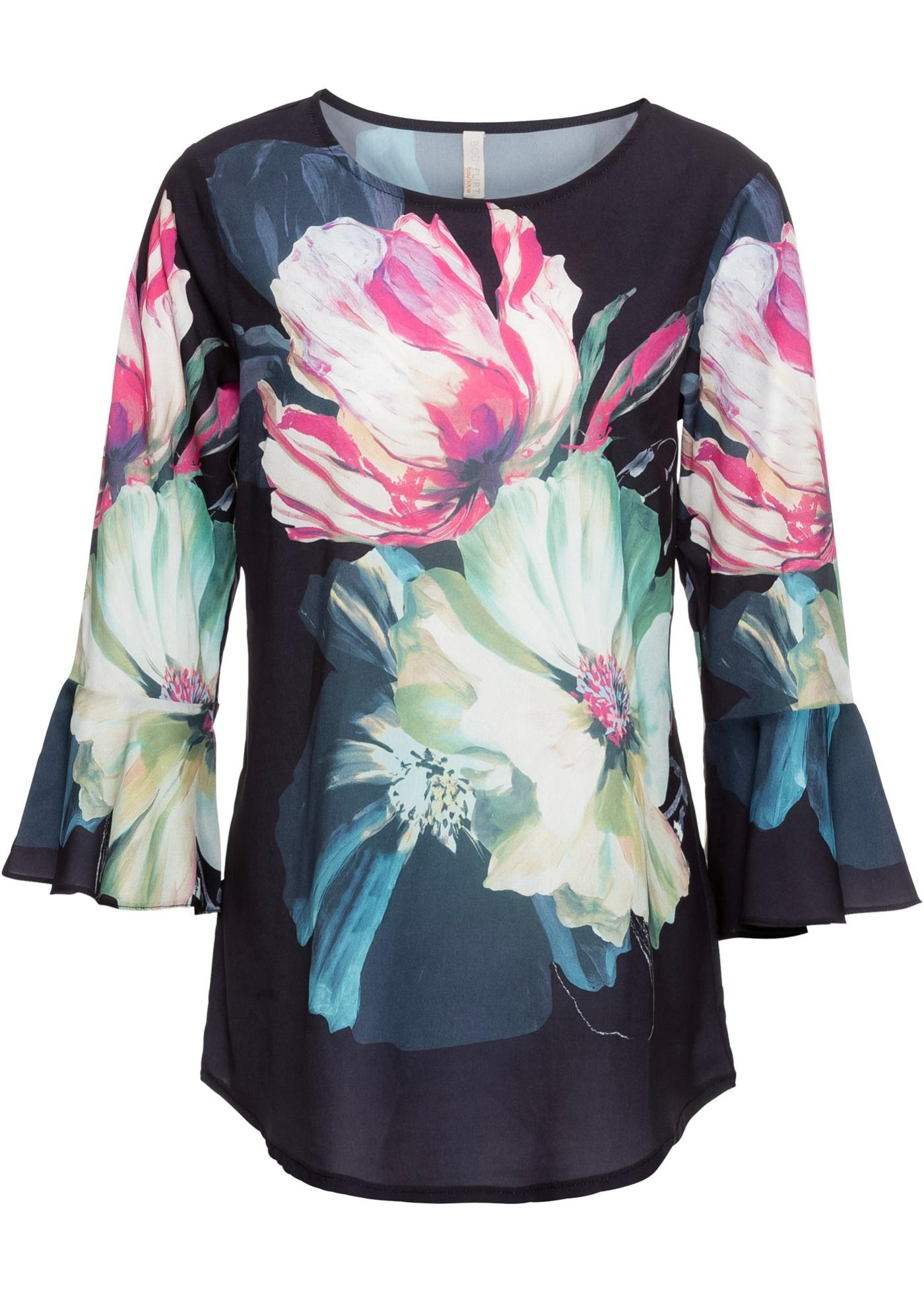 Blusa con stampa floreale (Blu) - BODYFLIRT boutique