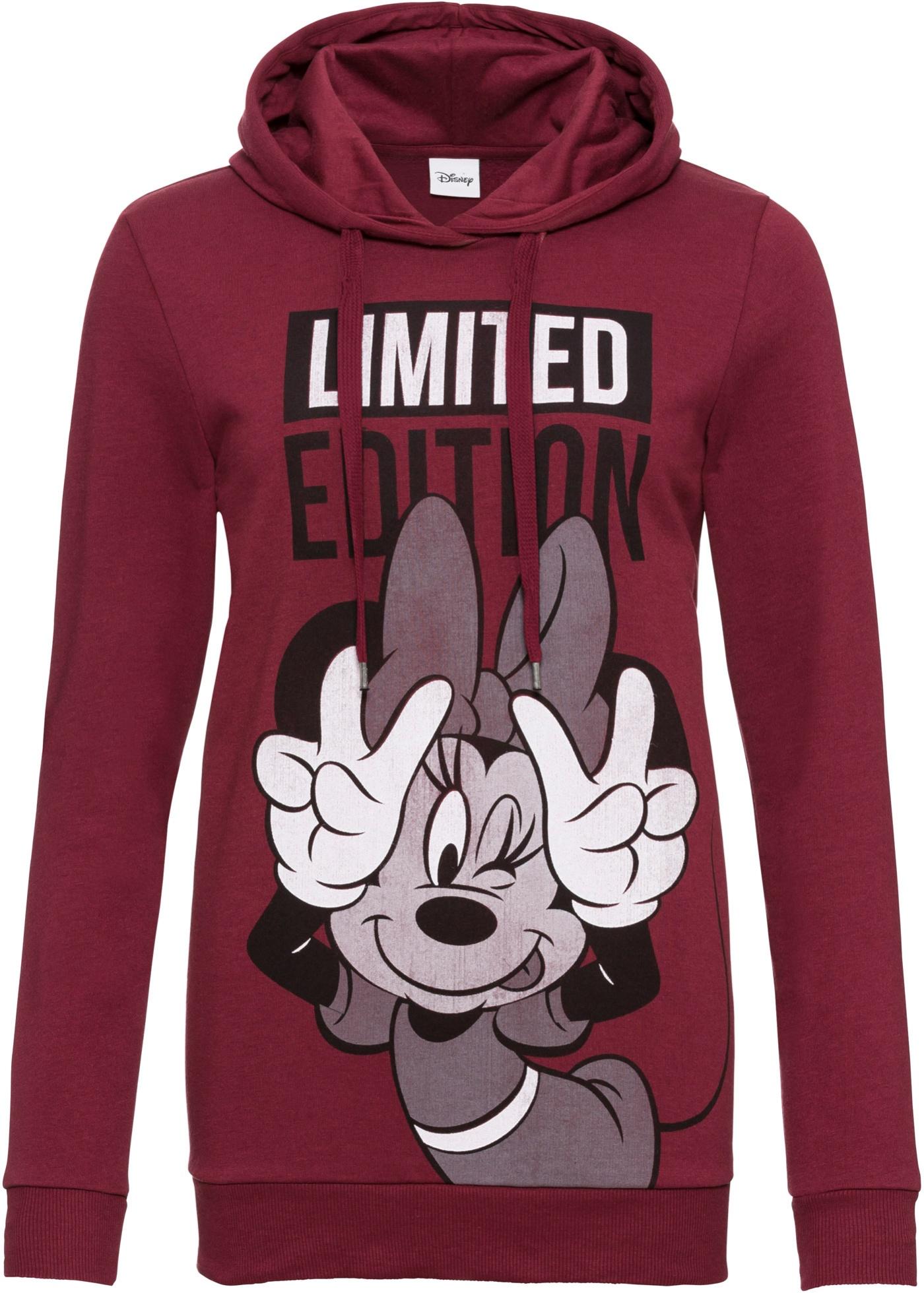Felpa con cappuccio e stampa Minnie (Rosso) - Disney