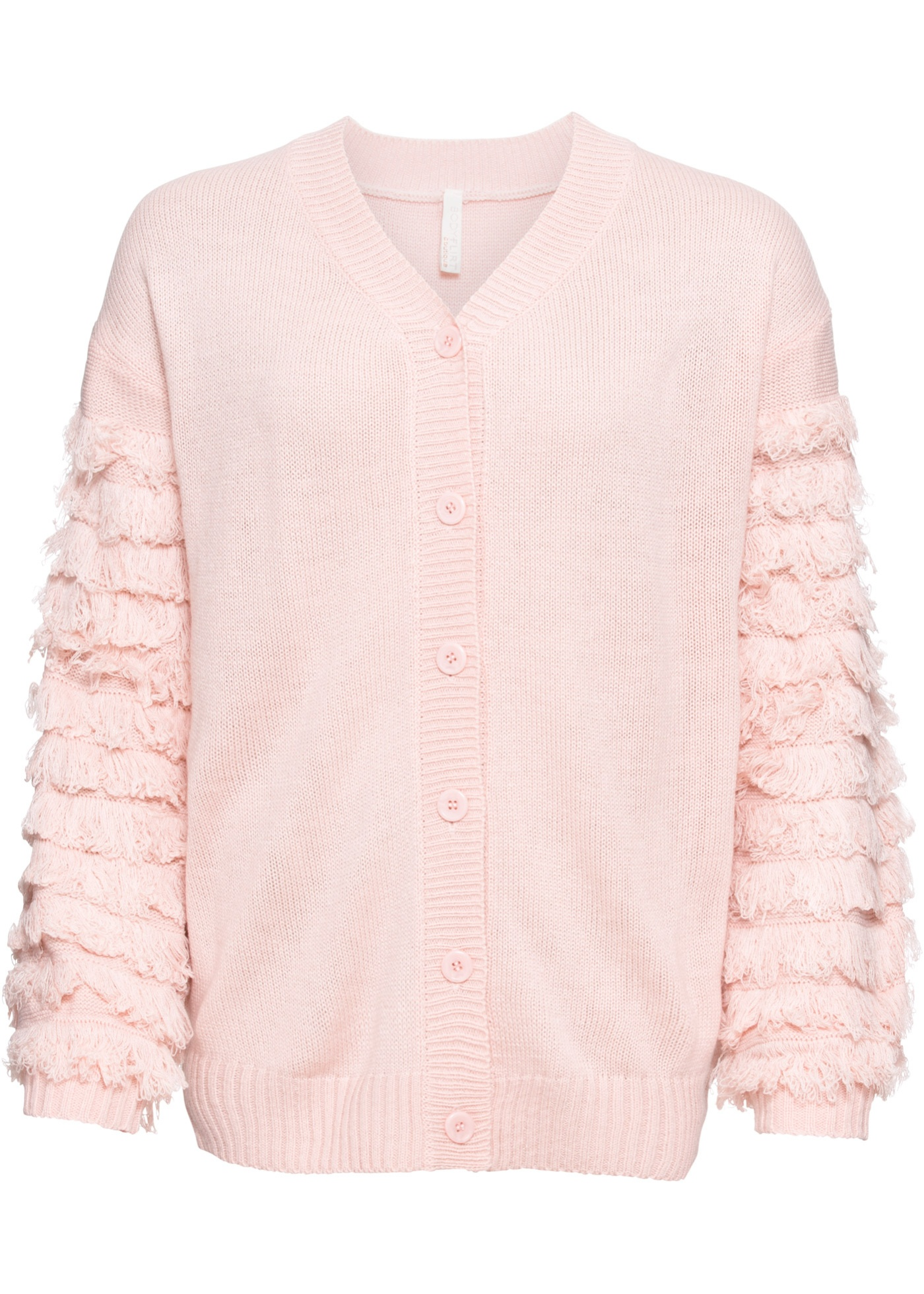 Cardigan con frange sulle maniche (rosa) - BODYFLIRT boutique