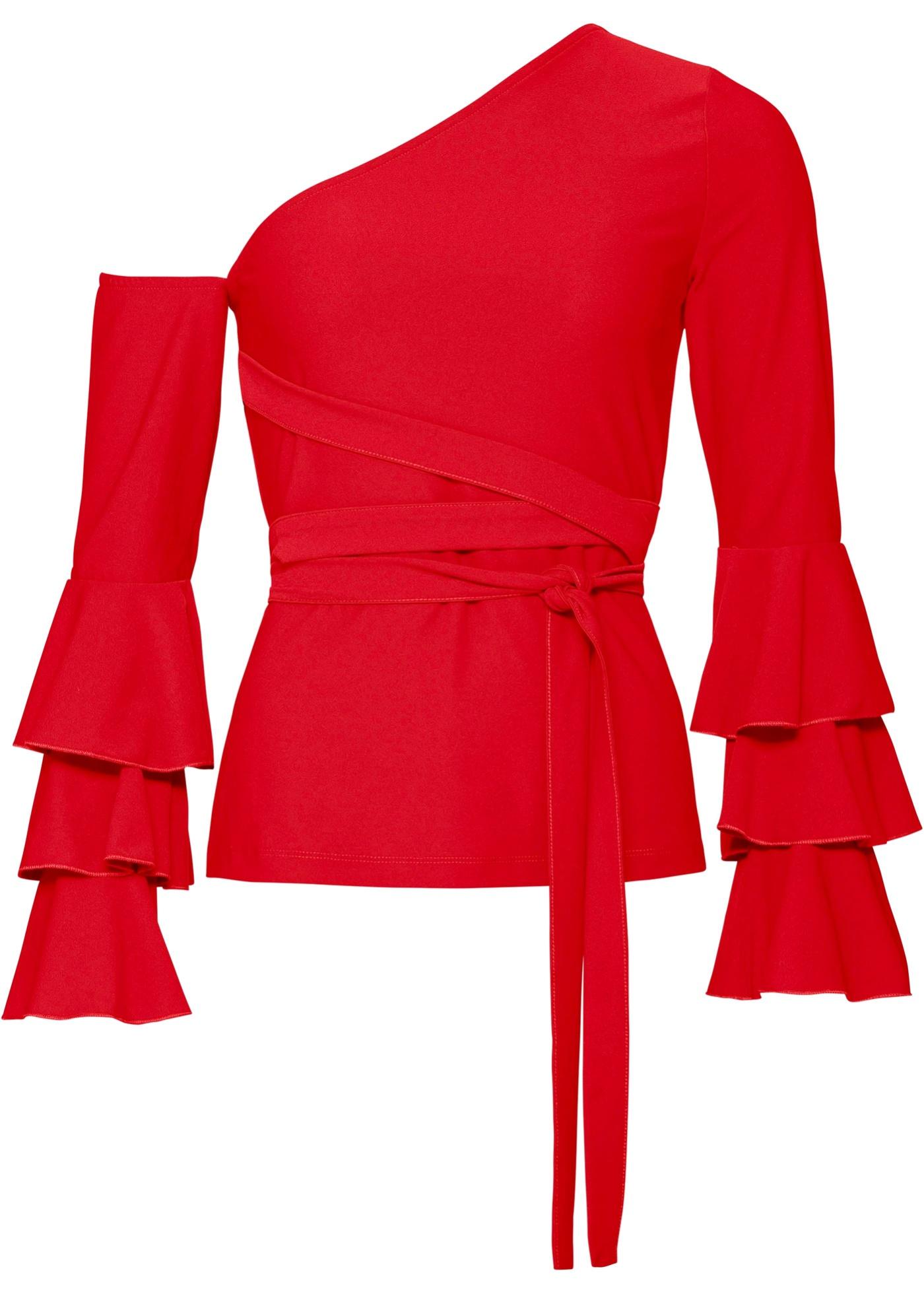 Blusa in maglina (Rosso) - BODYFLIRT boutique