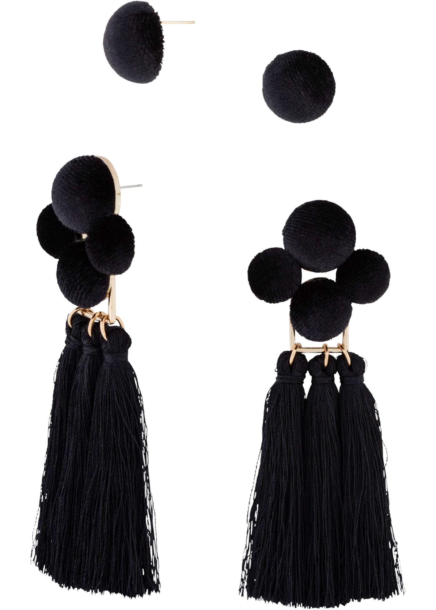 Set di orecchini con napp