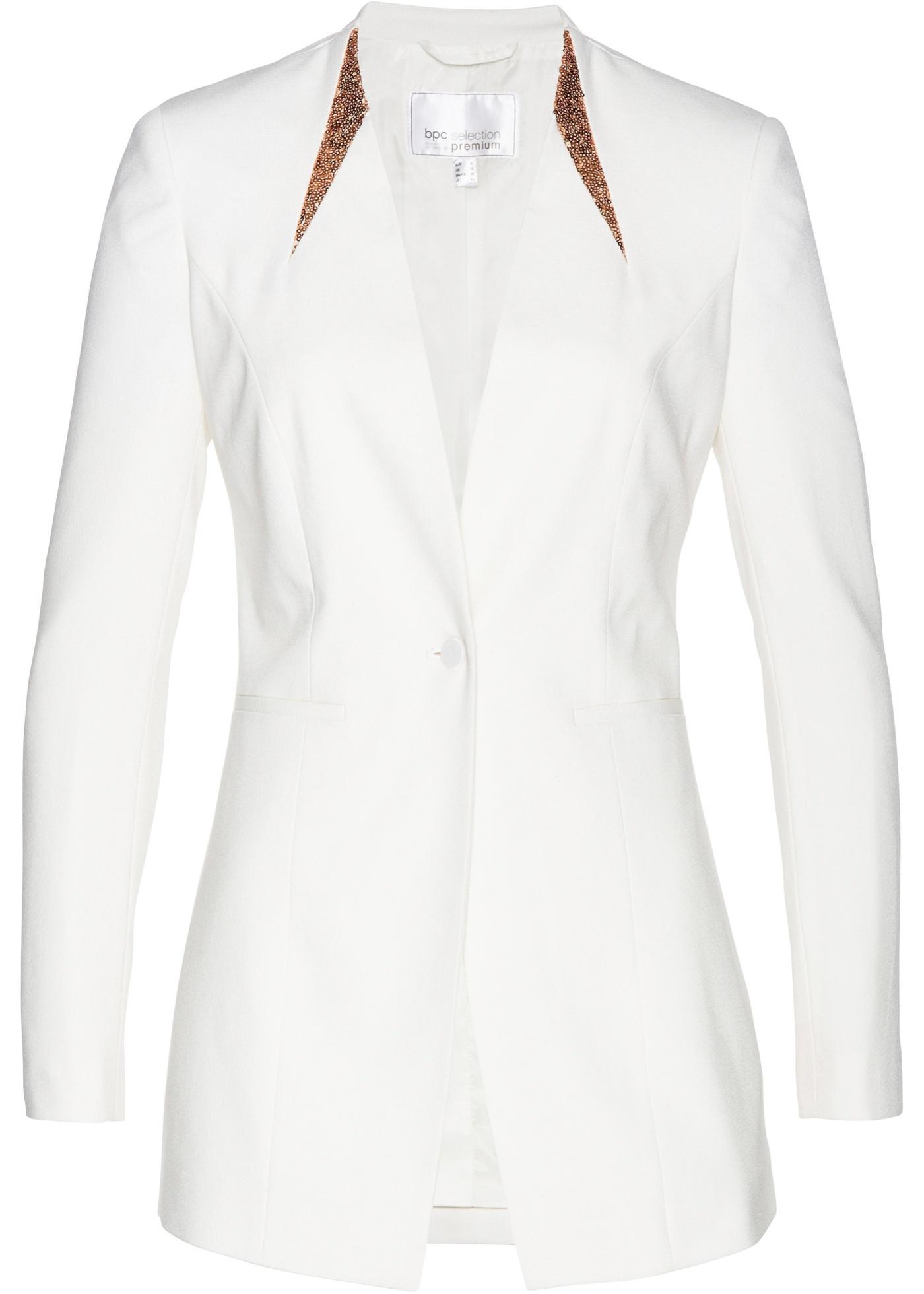 Blazer con paillettes (Bianco) - bpc selection premium