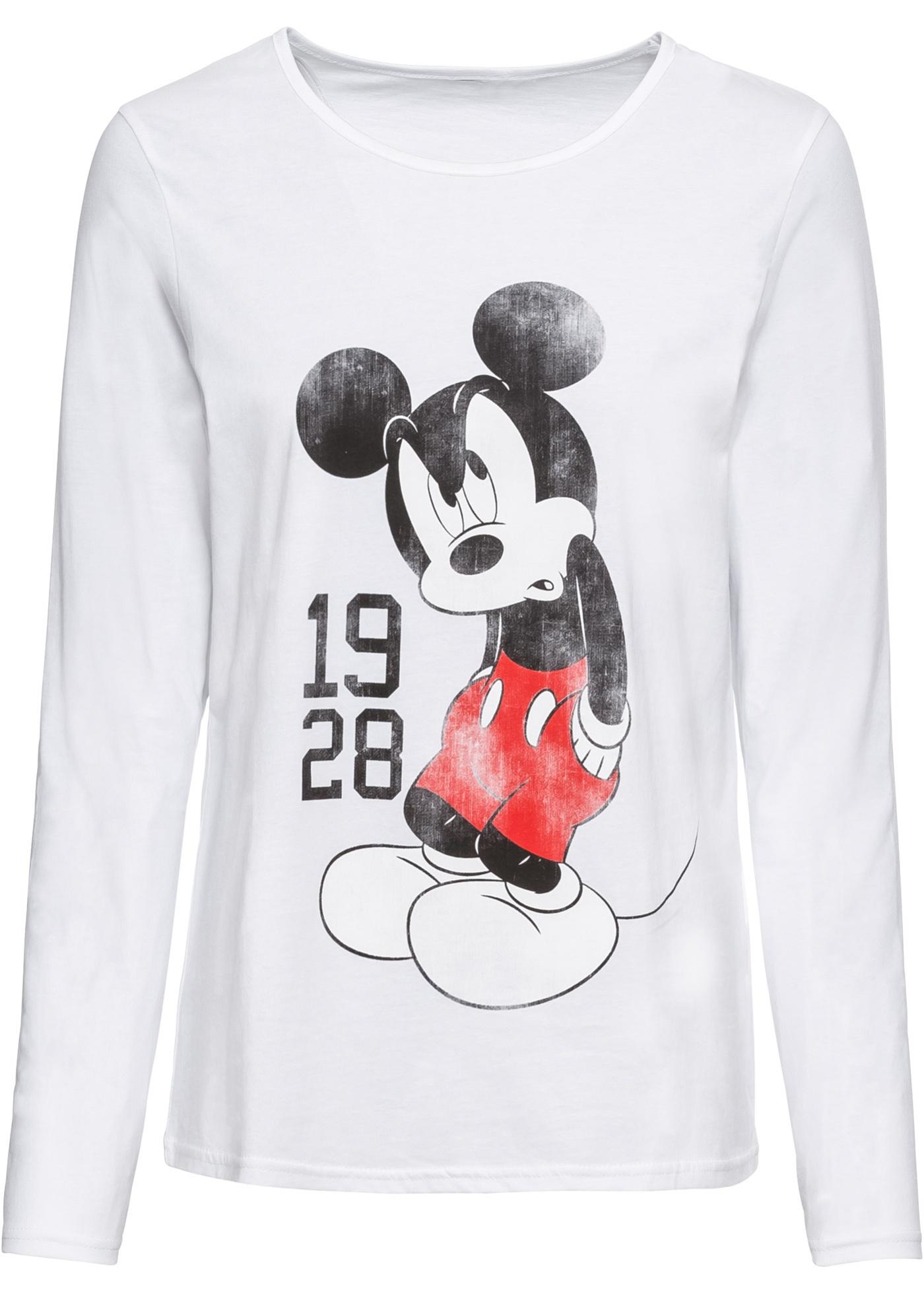 Maglia a manica lunga con Mickey Mouse (Bianco) - Disney