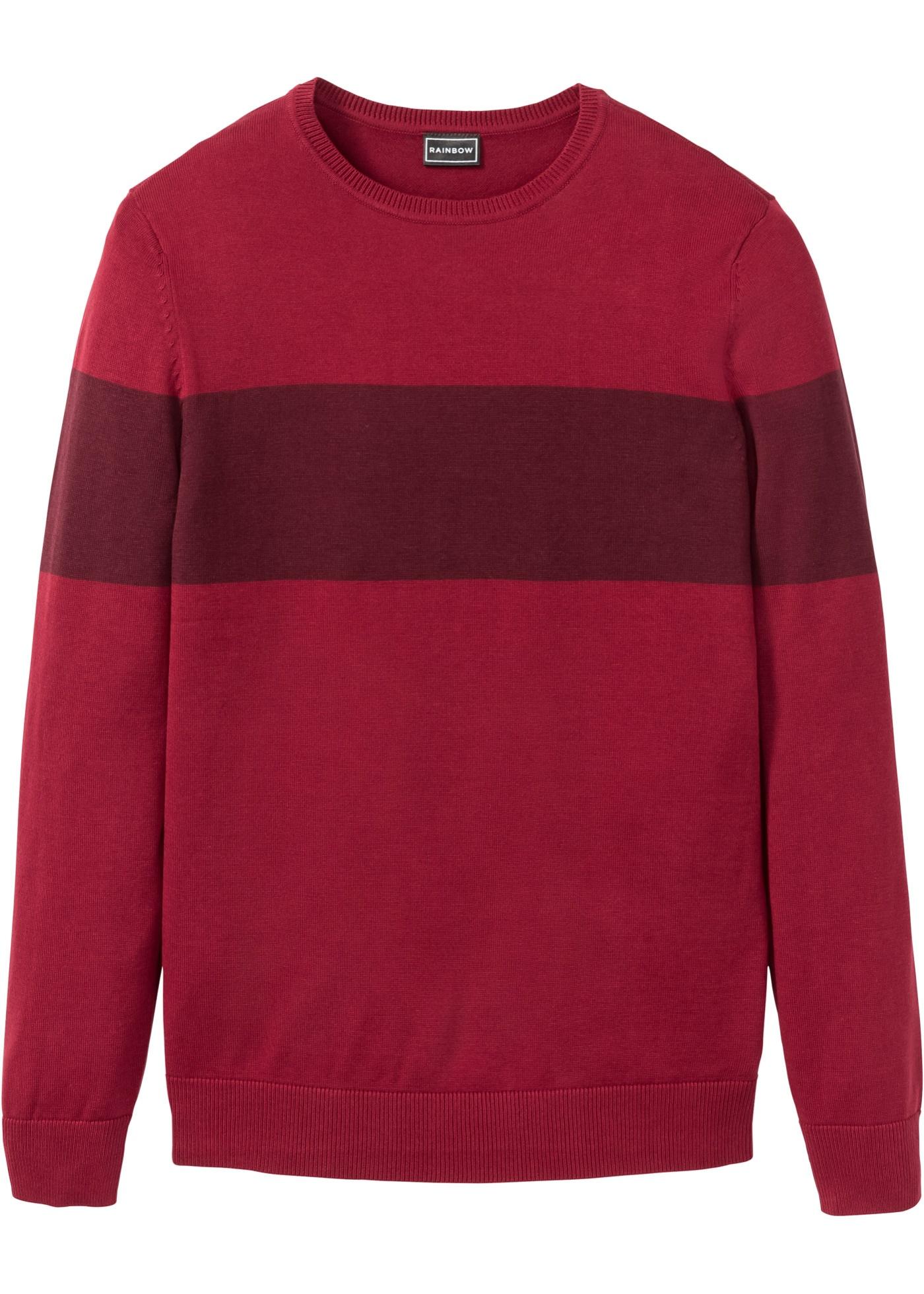 Pullover con fasce a contrasto (Rosso) - RAINBOW
