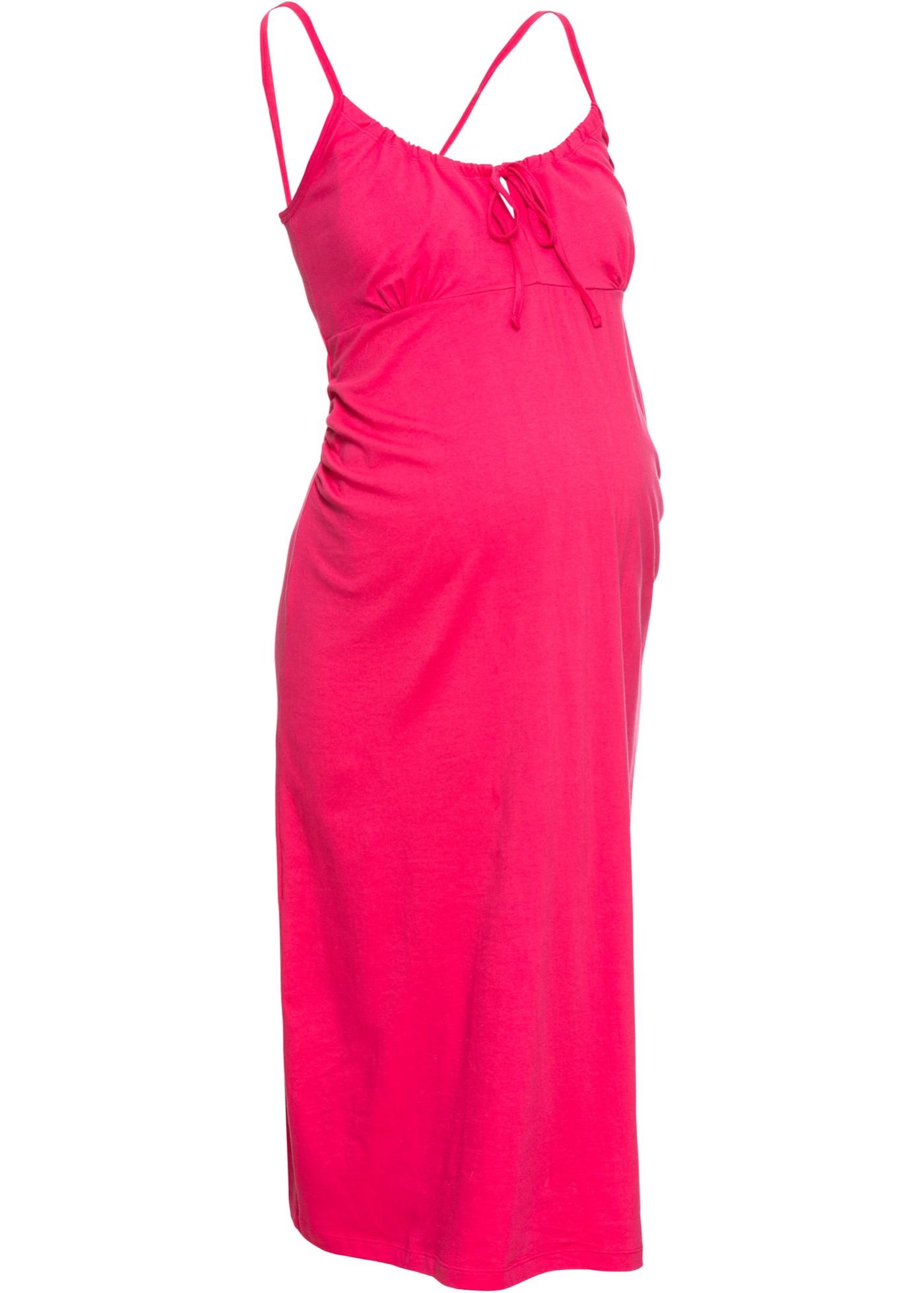 Camicia da notte per l'allattamento con spalline sottili (Fucsia) - bpc bonprix collection - Nice Size
