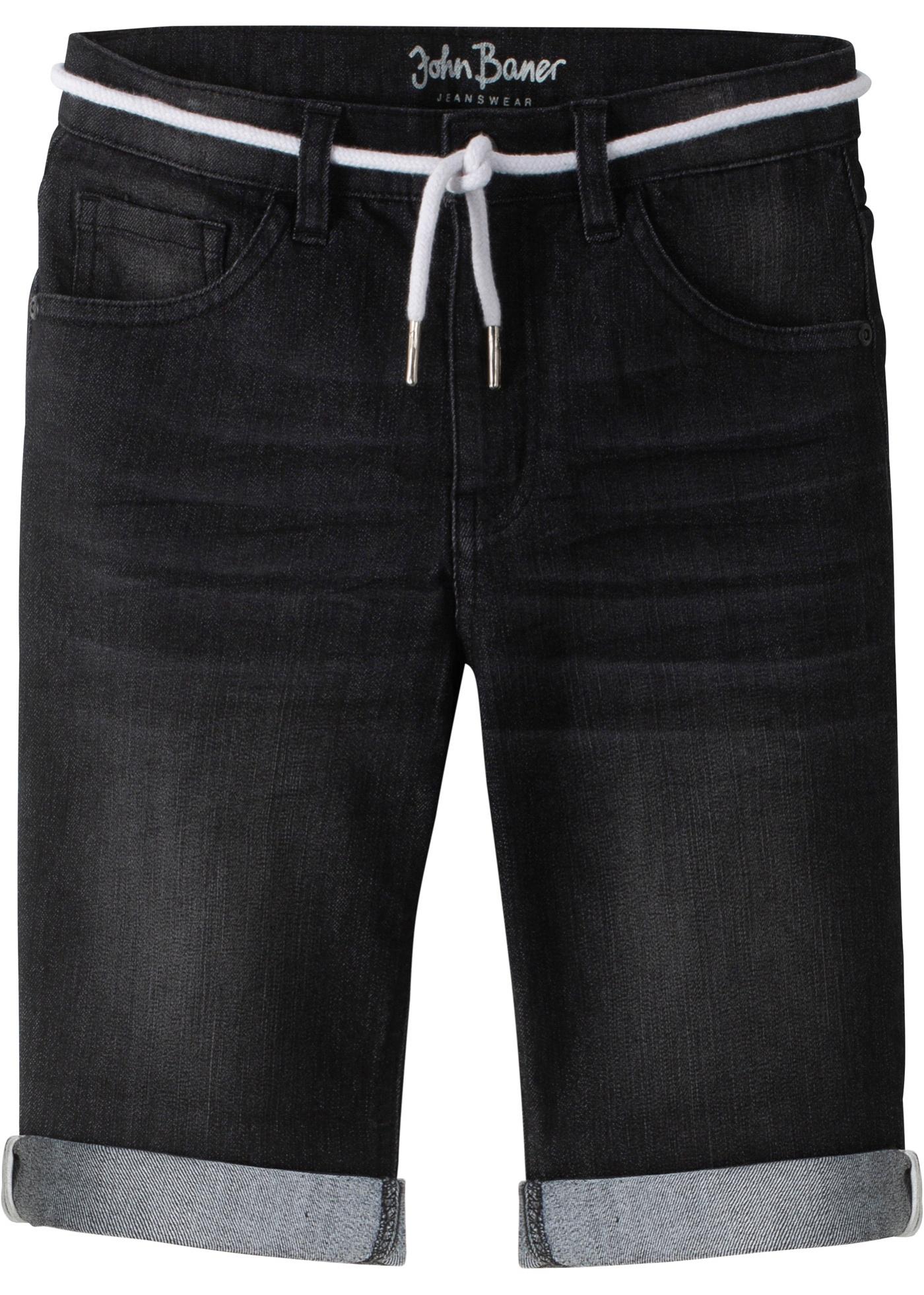 Bermuda di jeans regular fit (Nero) - John Baner JEANSWEAR