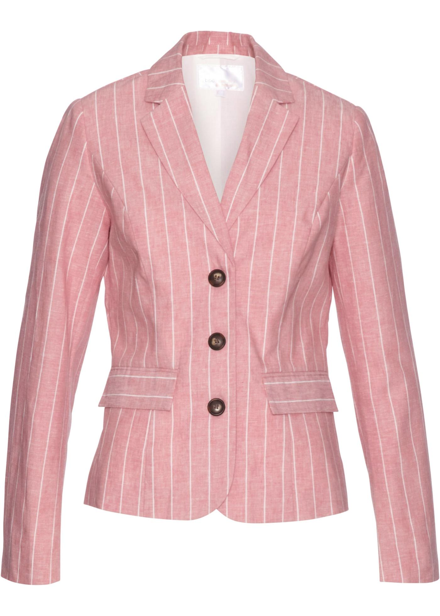 Blazer in misto lino (rosa) - bpc selection premium