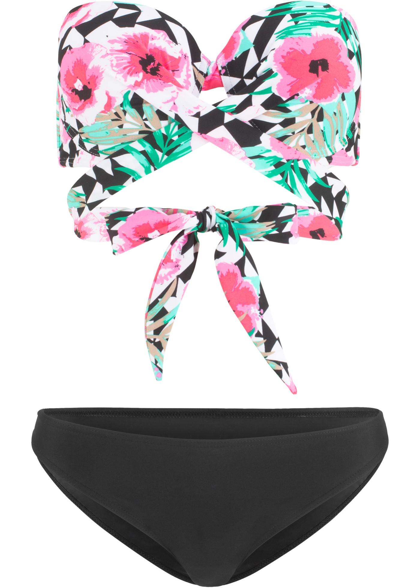 Bikini con ferretto (set 2 pezzi) (Nero) - BODYFLIRT