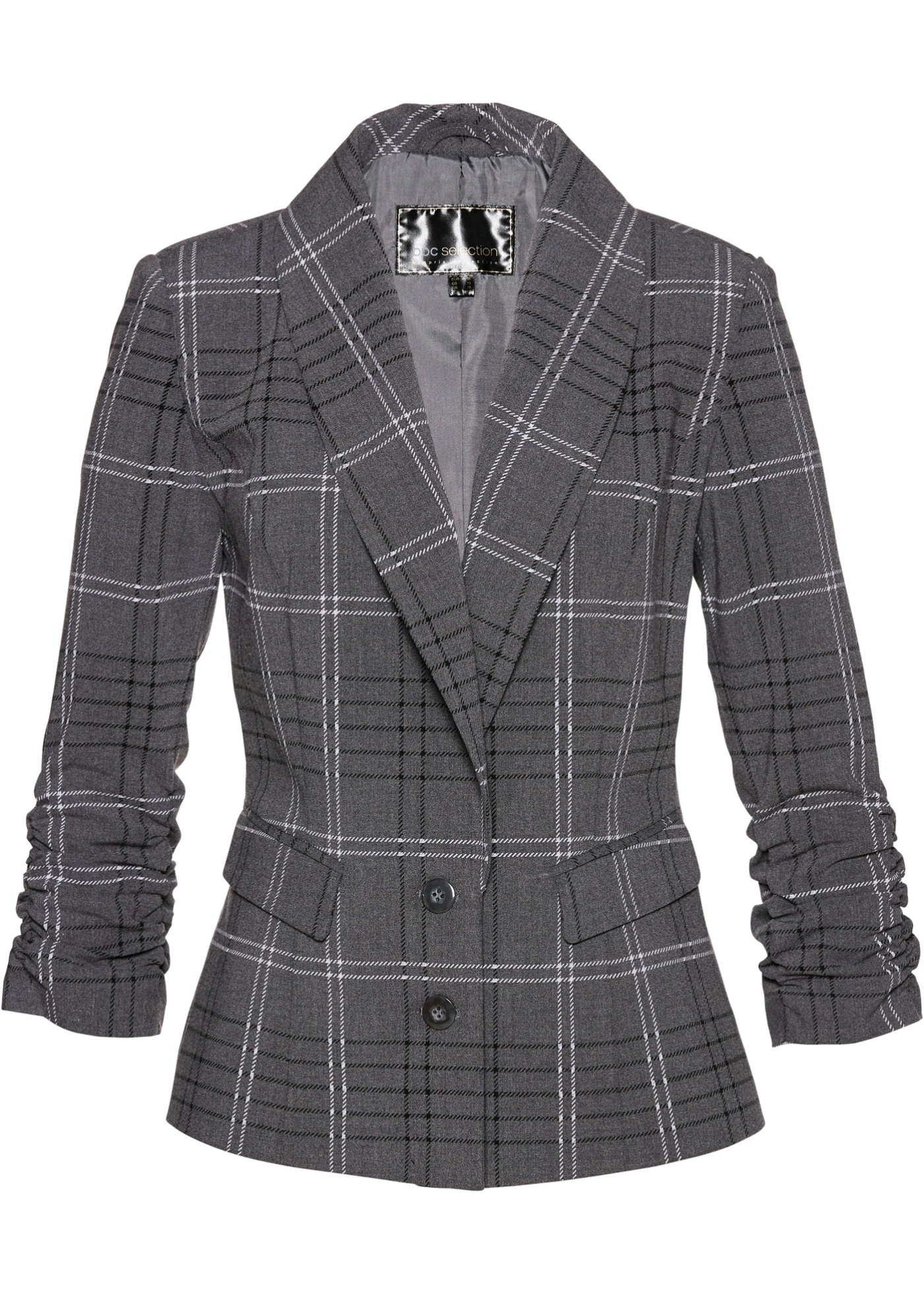 Blazer a quadri (Grigio) - bpc selection