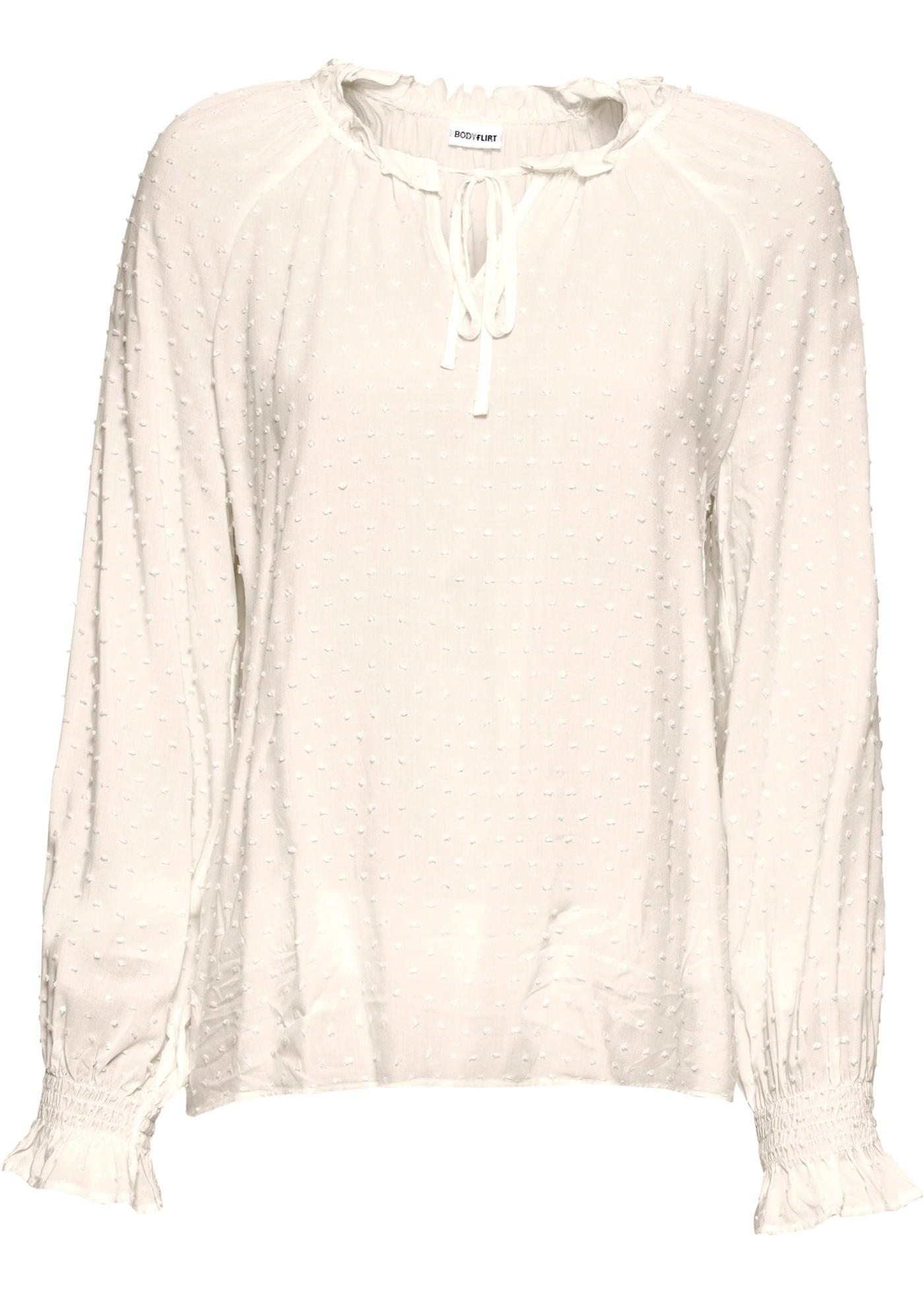 Blusa con laccetti (Bianco) - BODYFLIRT