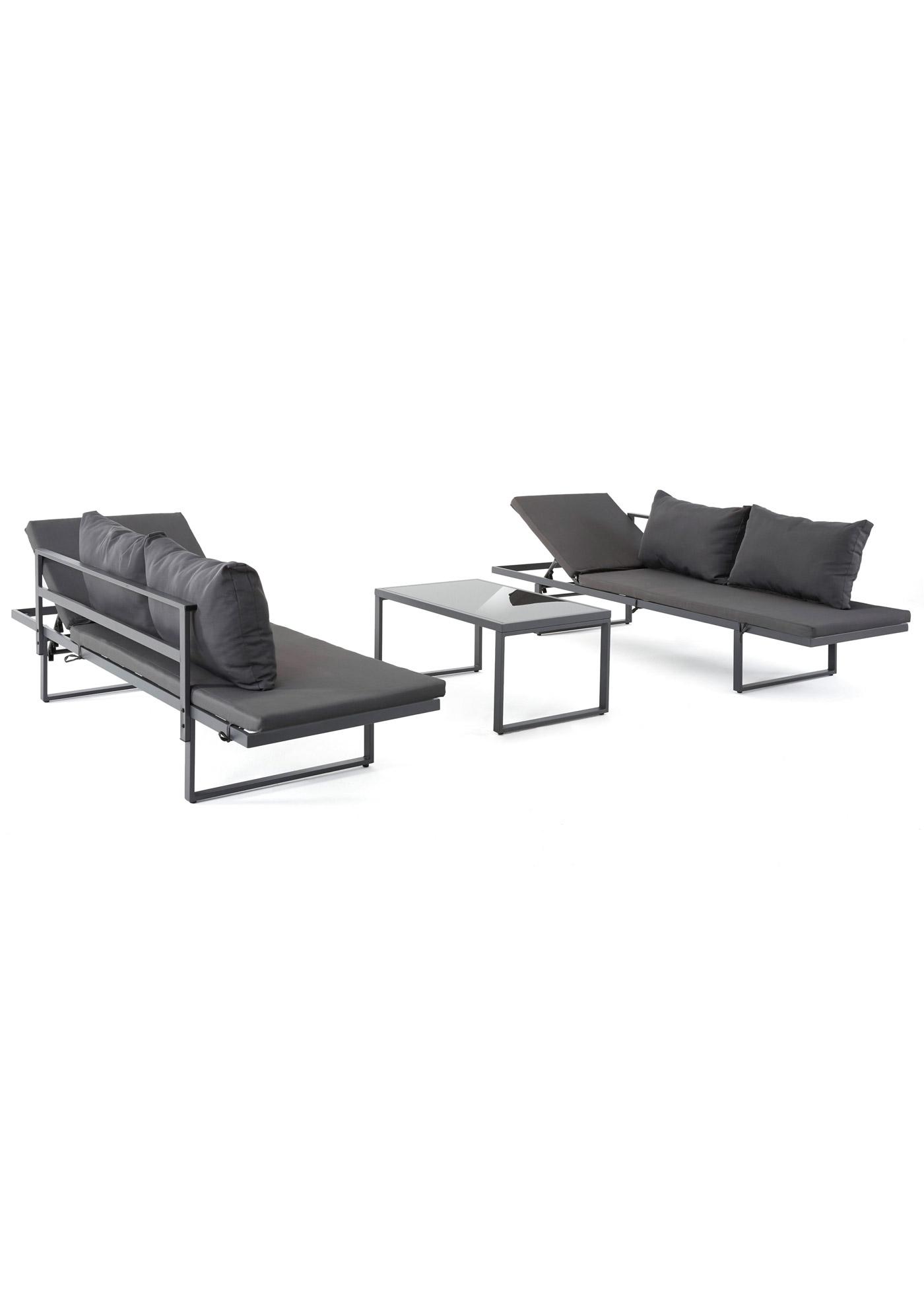 Set mobili da giardino (set 3 pezzi) (Grigio) - bpc living bonprix collection