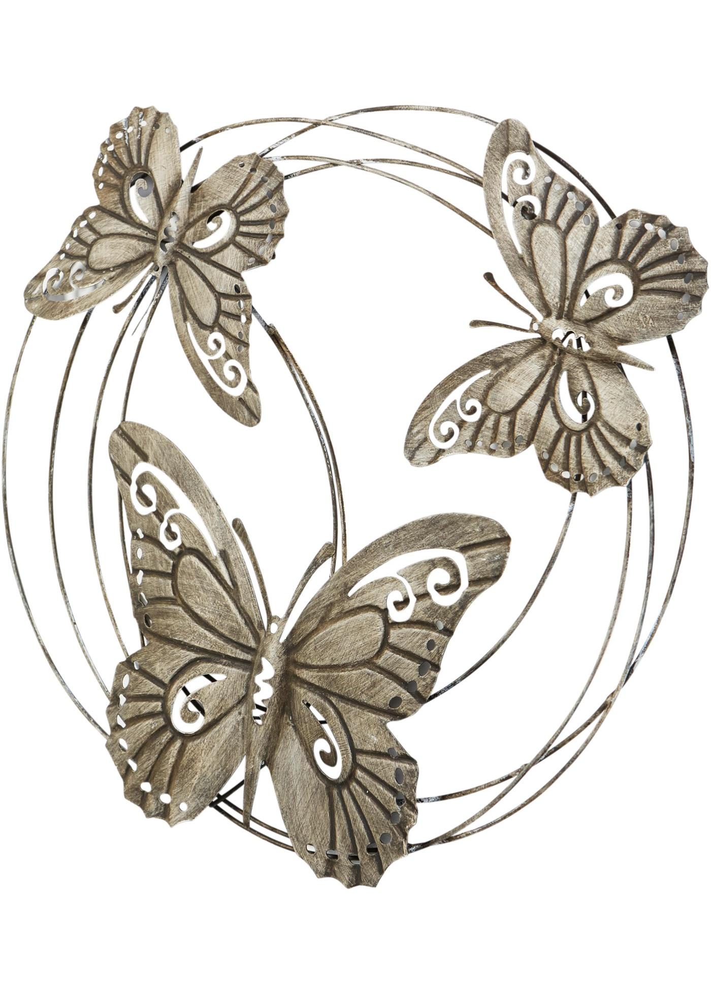 Decorazione da parete con farfalle (Grigio) - bpc living bonprix collection